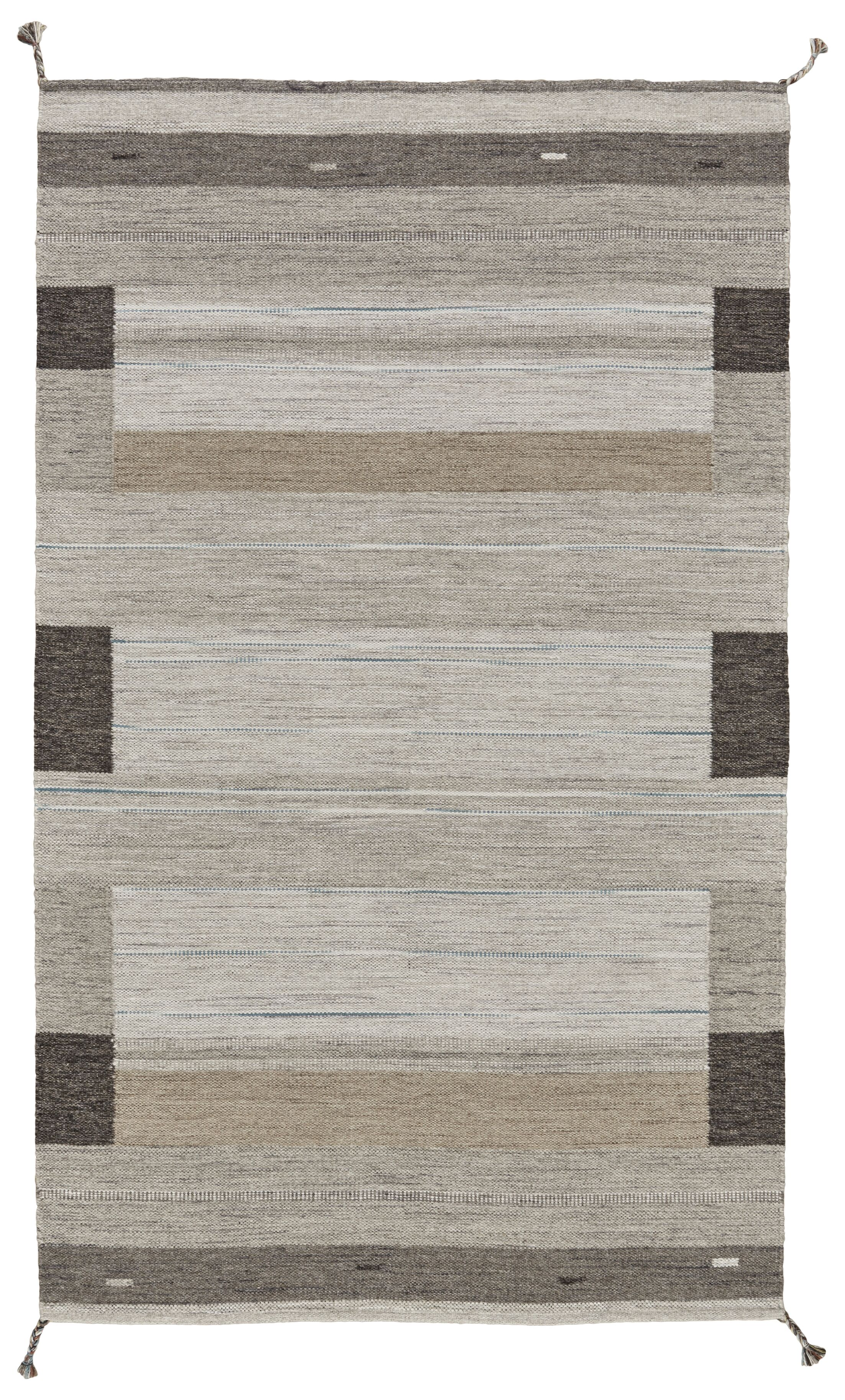 Ewalt Flat Woven Wool Gray Area Rug Rug Size: Rectangle 4' x 6'