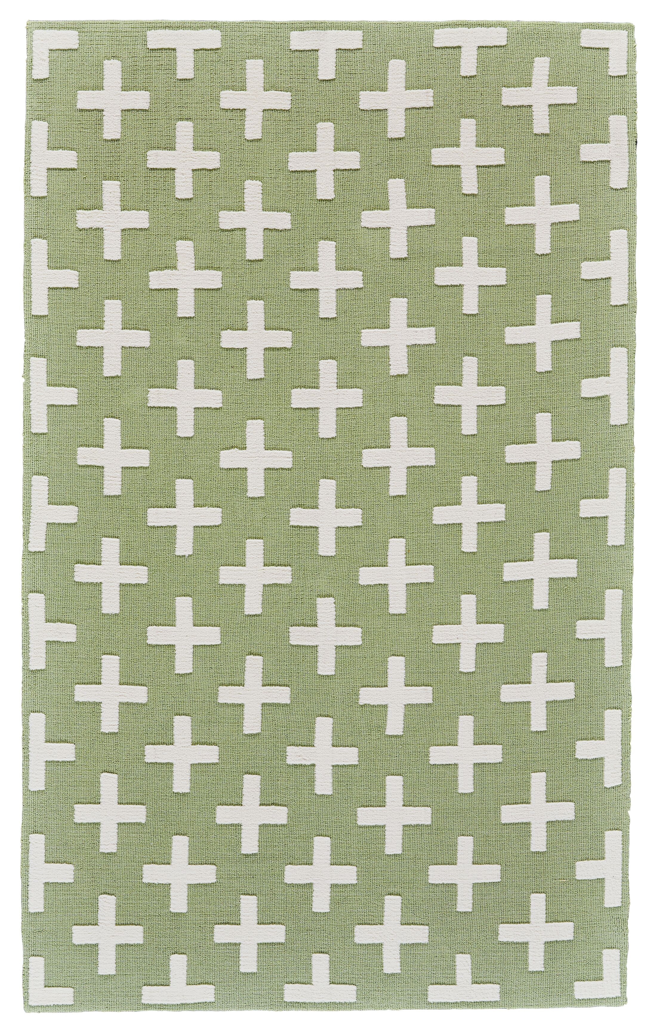 Kobayashi Green/White Area Rug Rug Size: Rectangle 5' x 8'