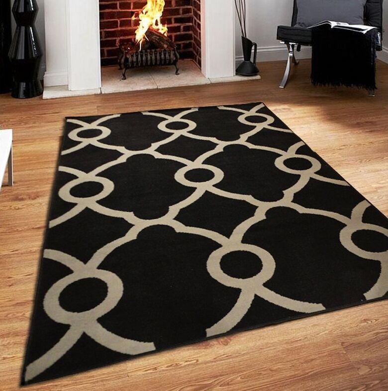 Riemann Black Indoor/Outdoor Area Rug Rug Size: Rectangle 8' x 11'