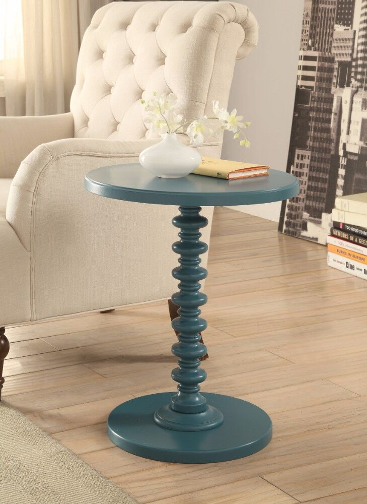 Roche End Table Color: Teal