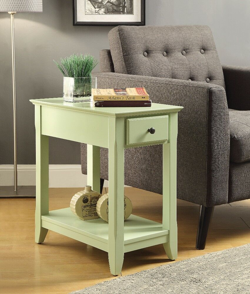 Krohn End Table with Storage Color: Green