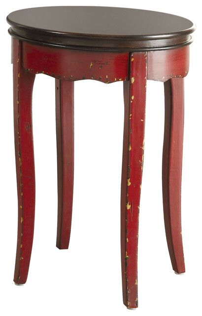 Willcox End Table Table Base Color: Red