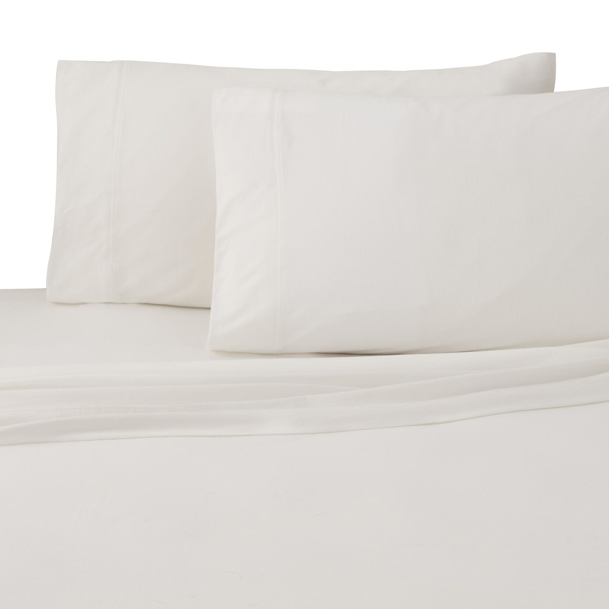 Jersey Pillow Case Size: Standard, Color: Ivory