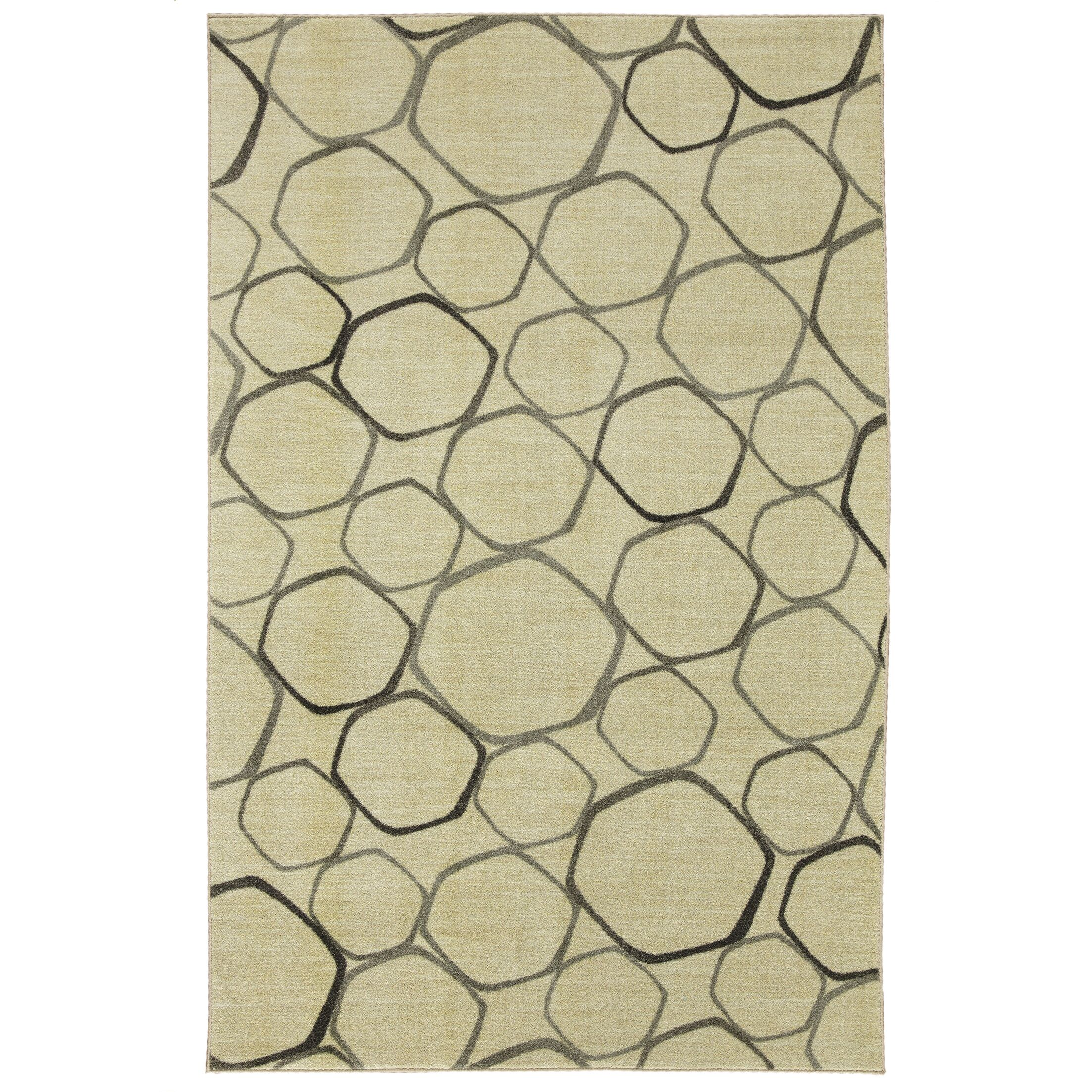 Locher Graphic Circles Gray Area Rug Rug Size: Rectangle 8' x 10'
