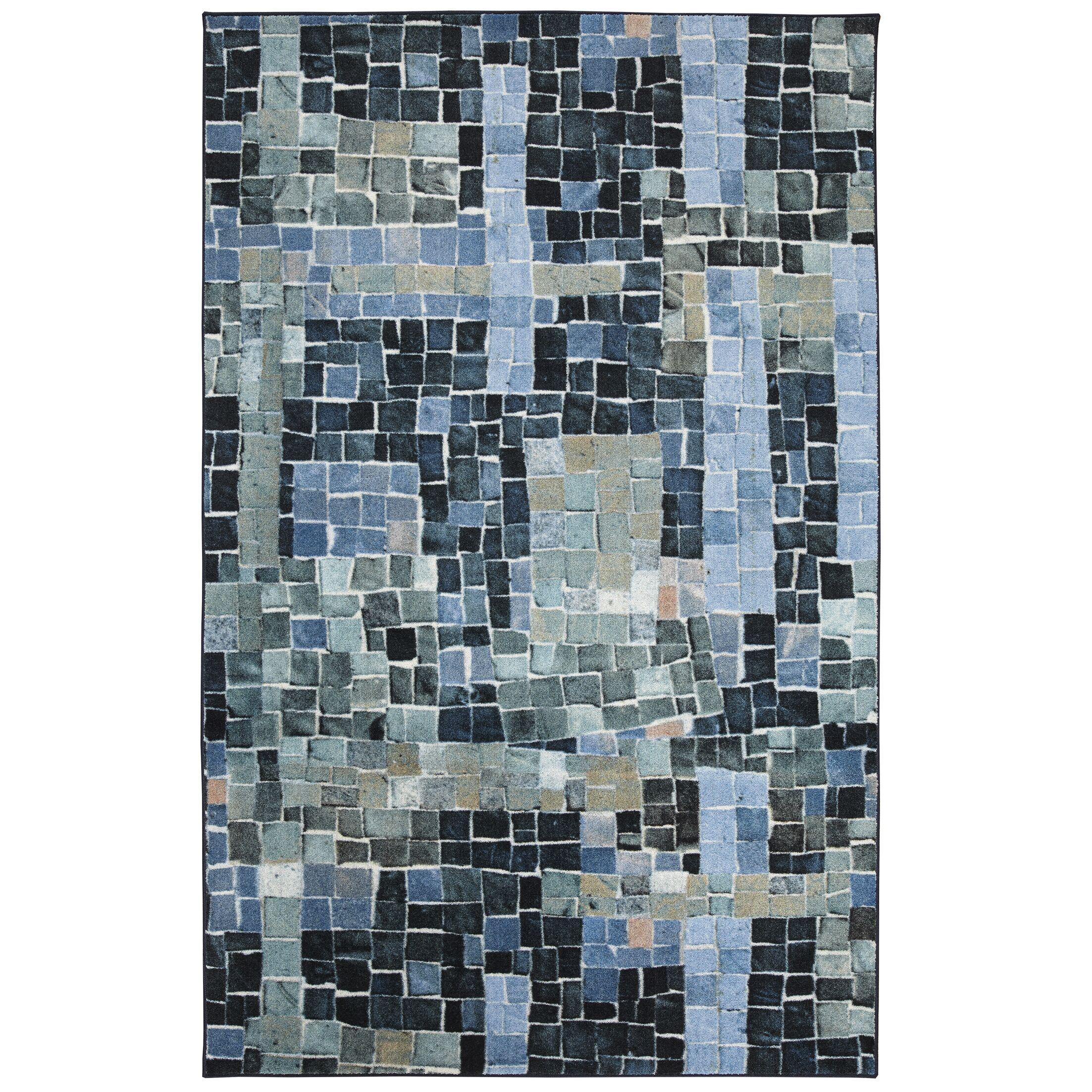 Hedin Cobblestone Navy Area Rug Rug Size: Rectangle 8' x 10'
