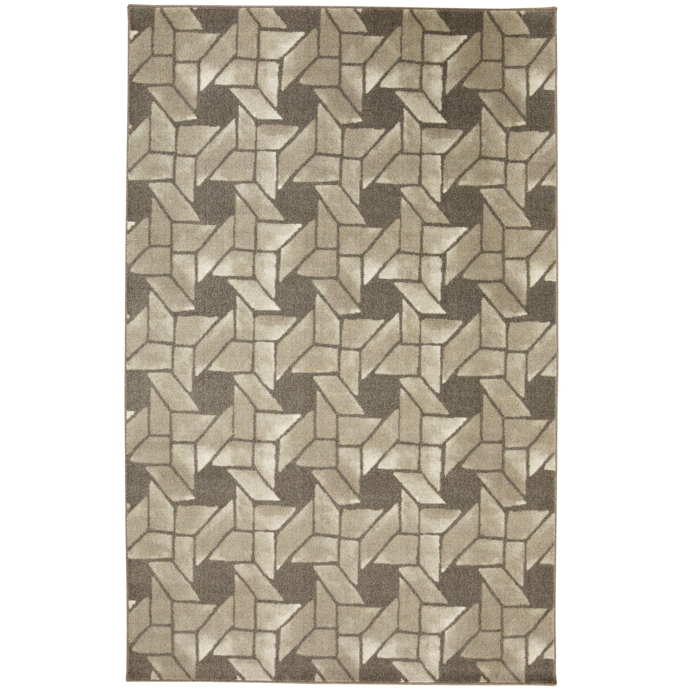 Kerber Linked Geo Gray Area Rug Rug Size: Rectangle 8' x 10'