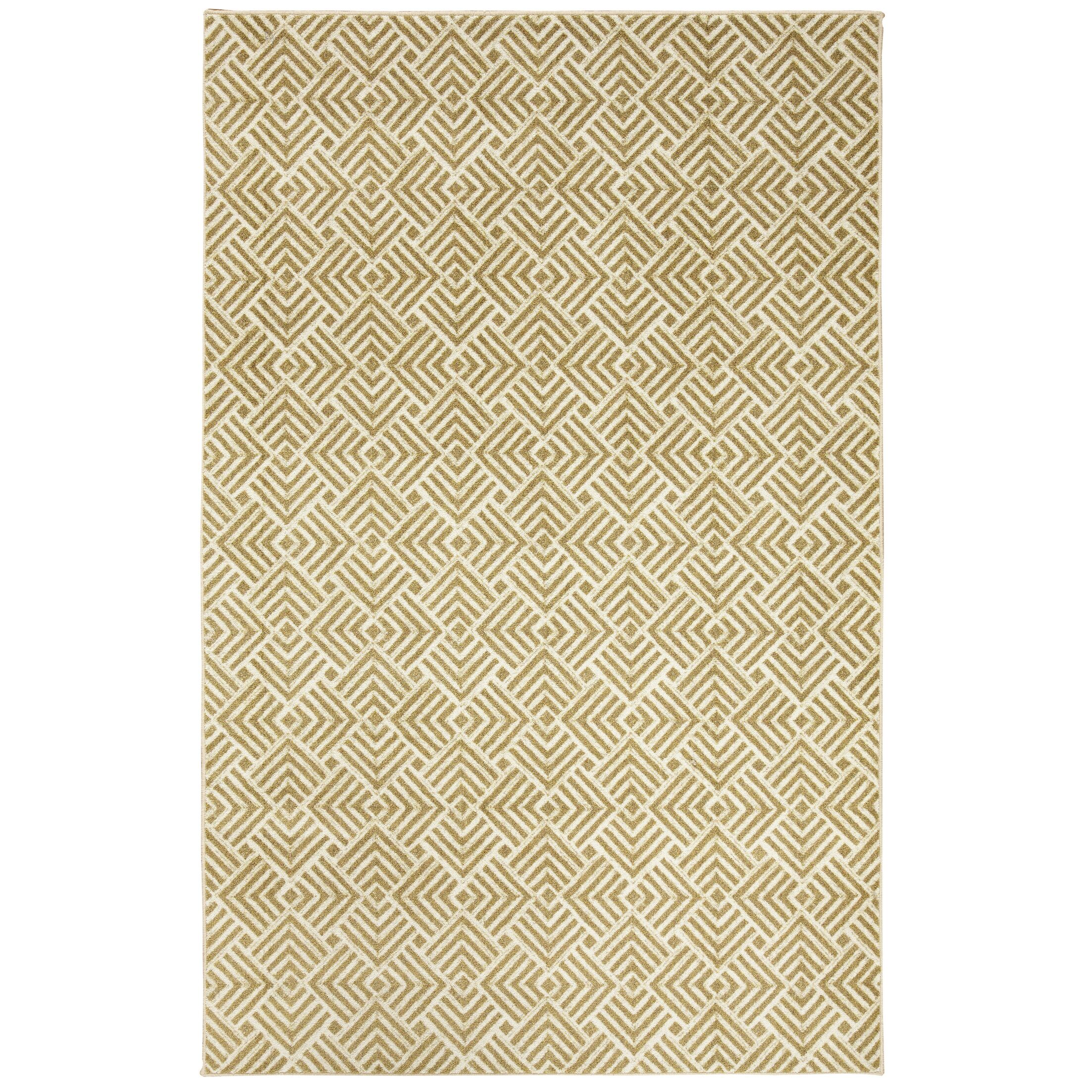 Kerber Diamond Maze Gold/Ivory Area Rug Rug Size: Rectangle 8' x 10'