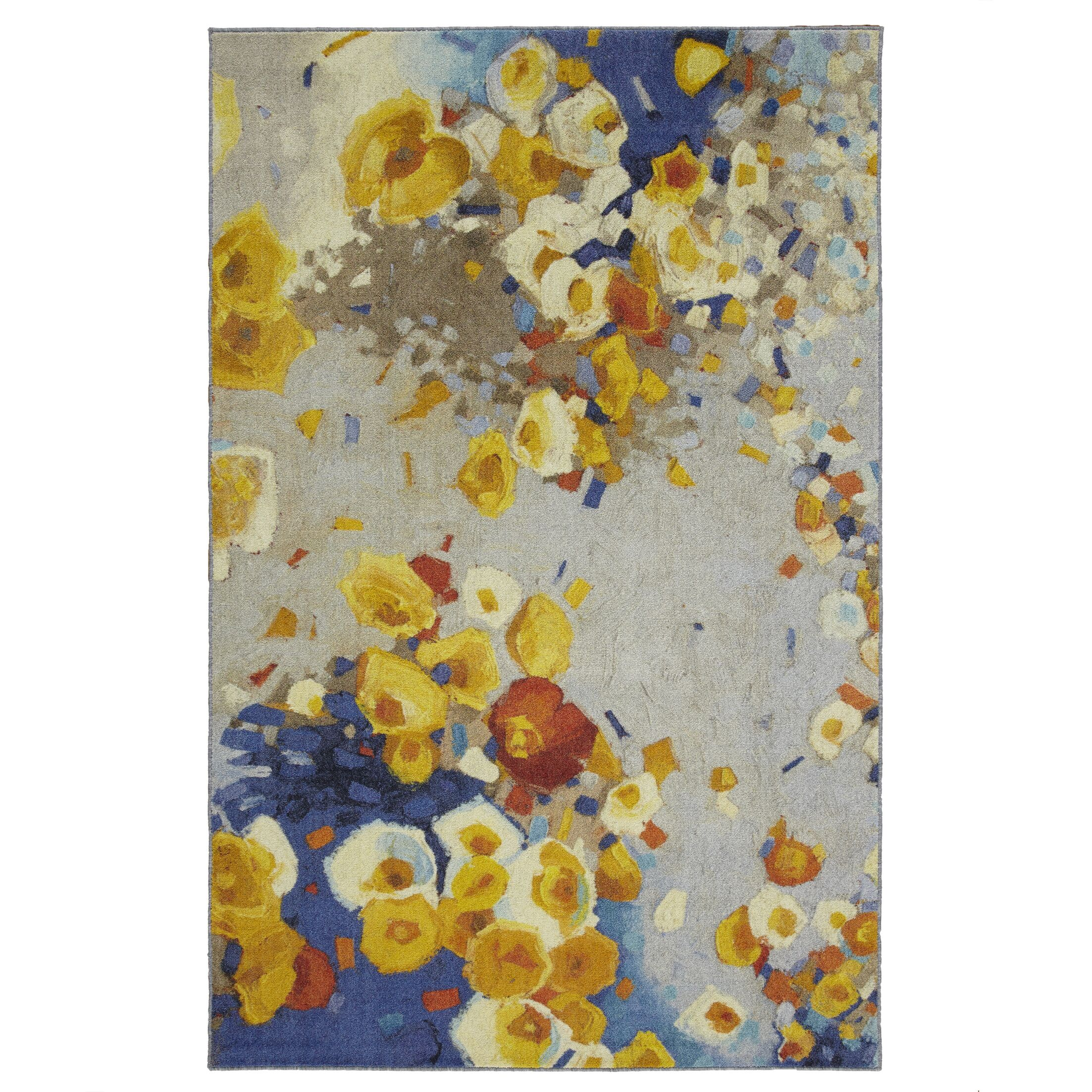 Locher Floral Winds Yellow/Blue Area Rug Rug Size: Rectangle 5' x 8'