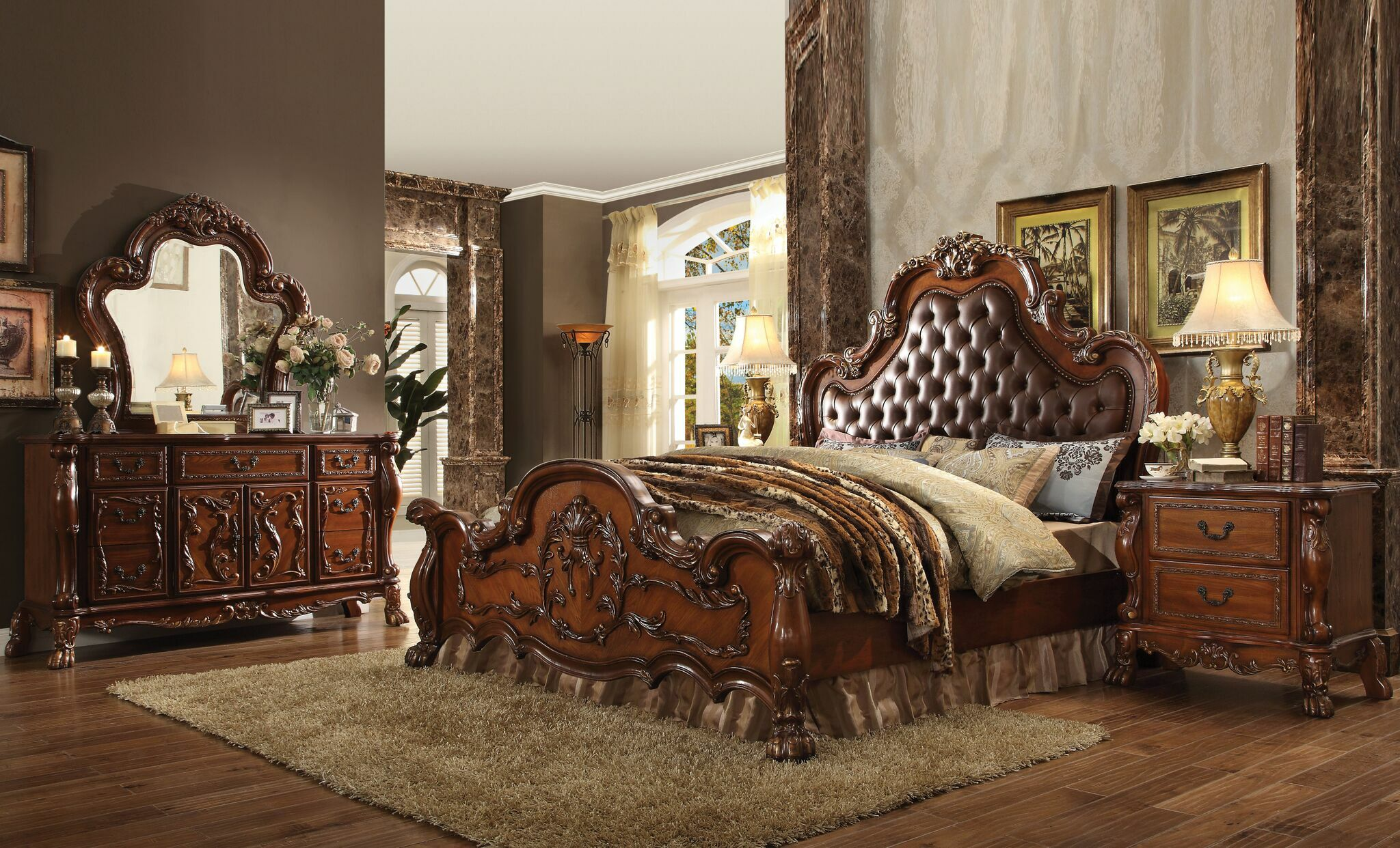 Selma Upholstered Panel Bed Size: California King, Color: Cherry