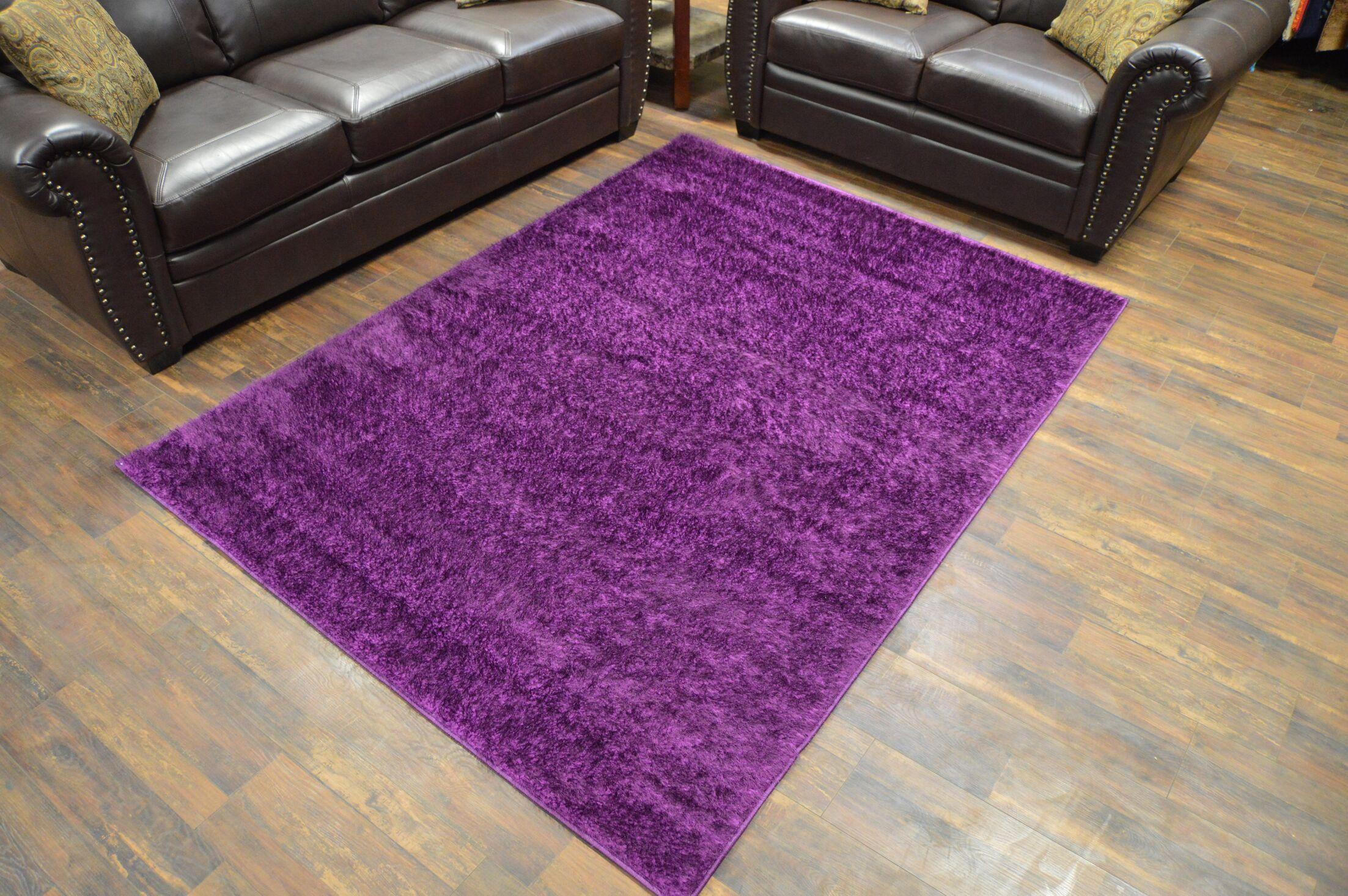 Rauch Shaggy Purple Area Rug