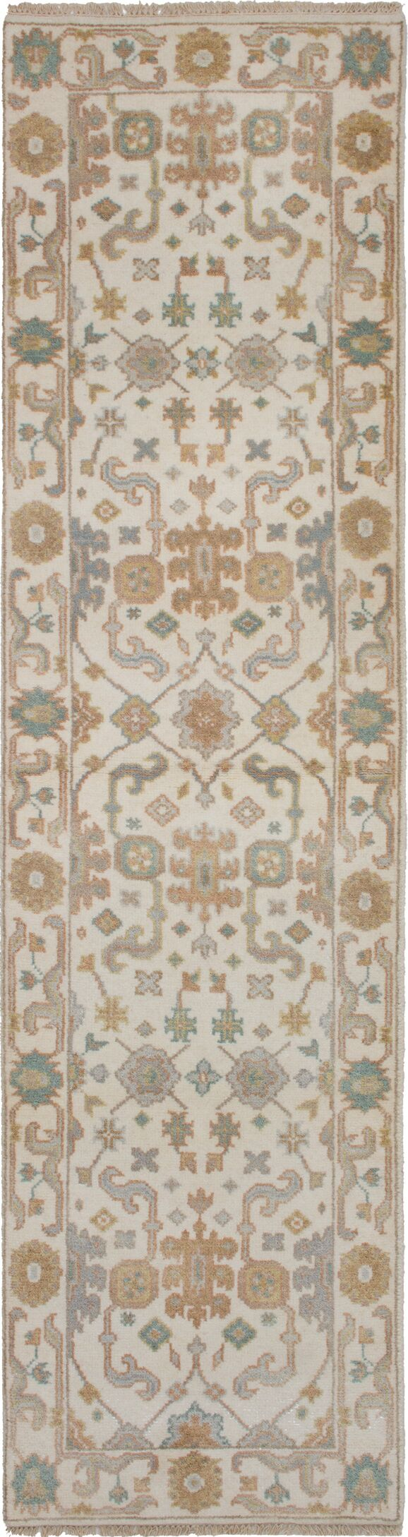 One-of-a-Kind Doggett Hand-Knotted Wool Cream Area Rug