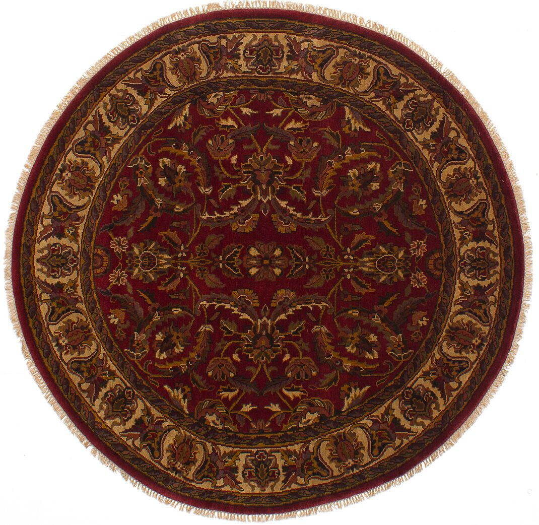One-of-a-Kind Donley Hand-Knotted Wool Dark Red Area Rug