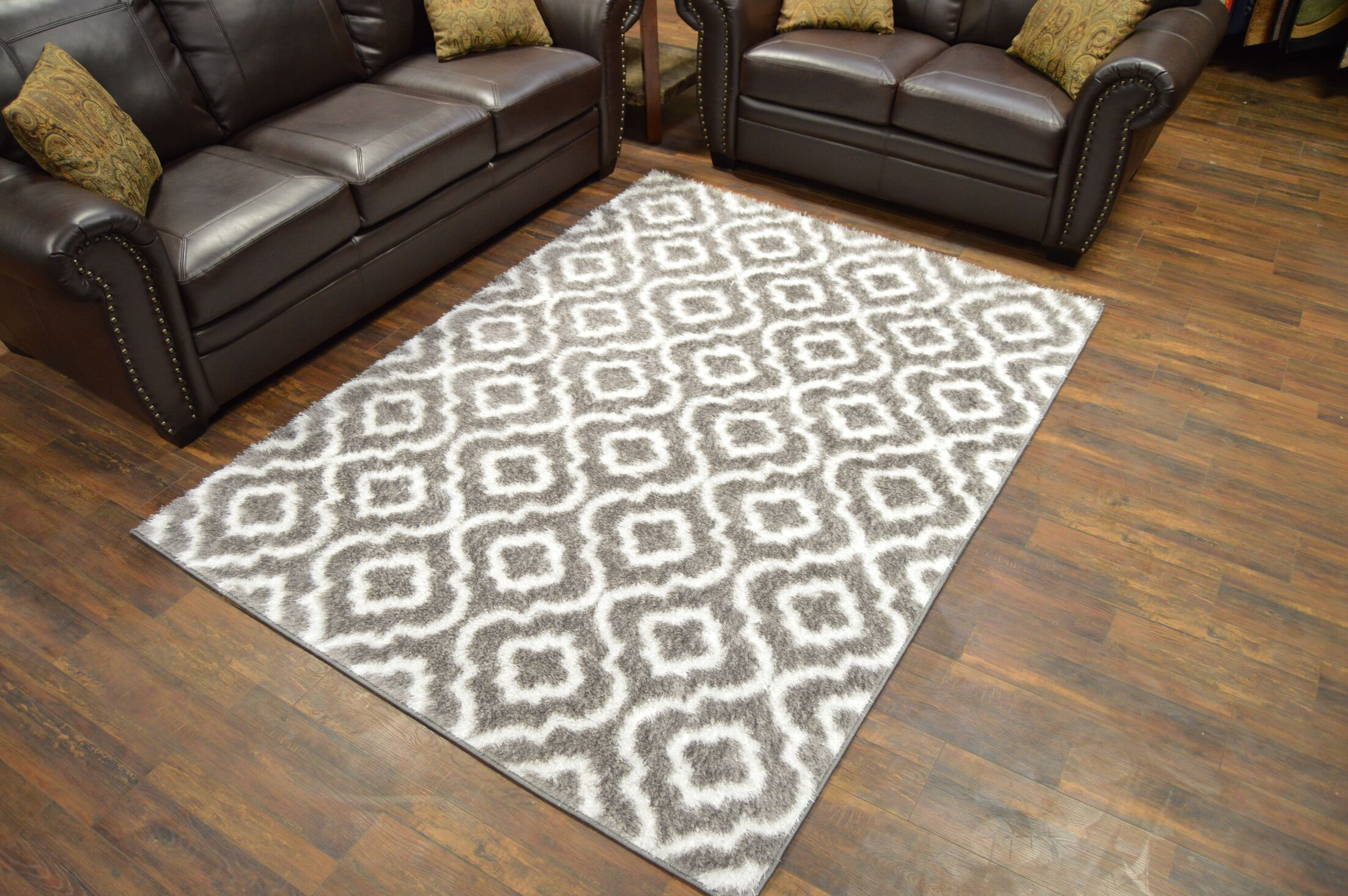 Rauch Shaggy Gray Area Rug