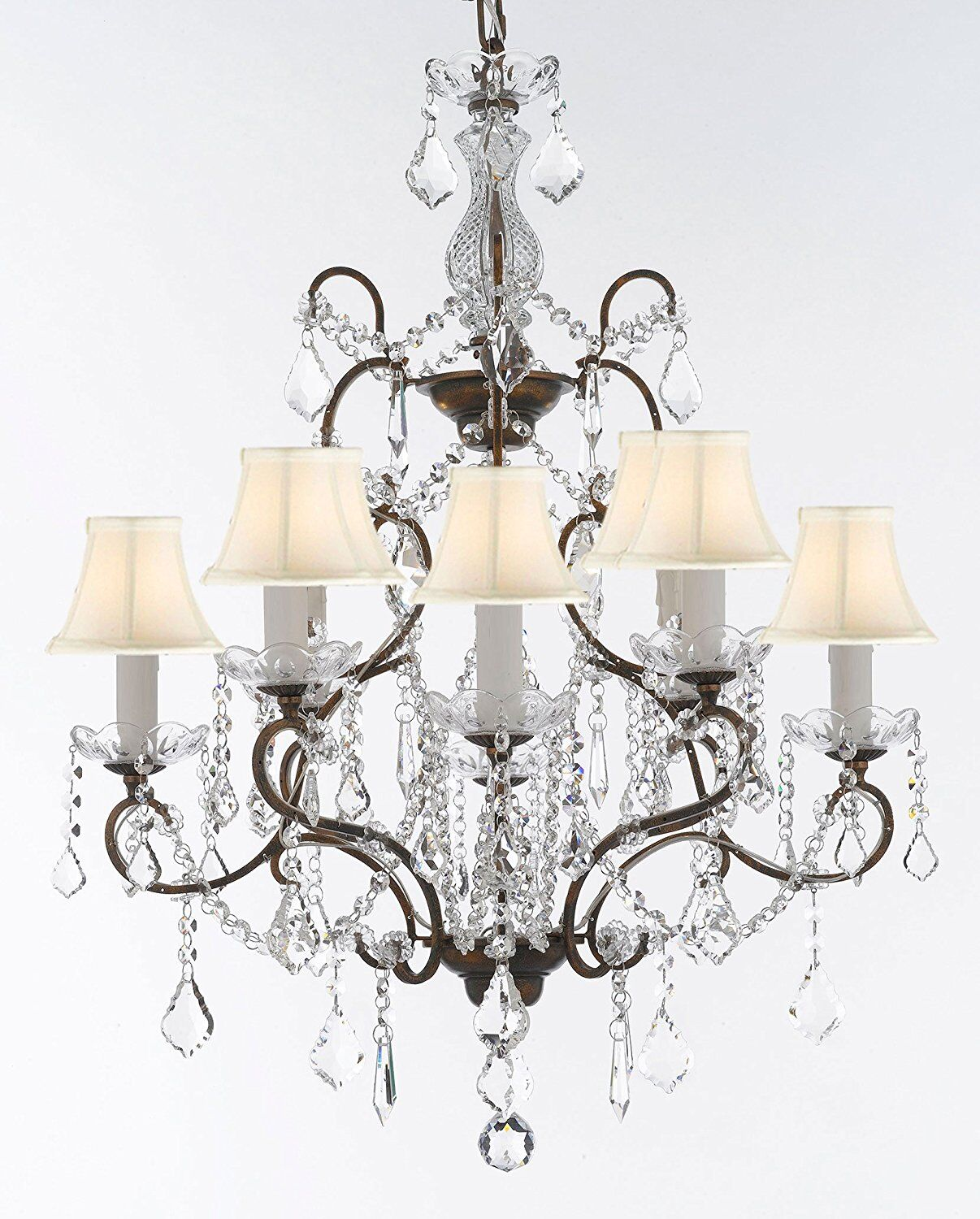 Linquist 8-Light Shaded Chandelier Shade Color: White