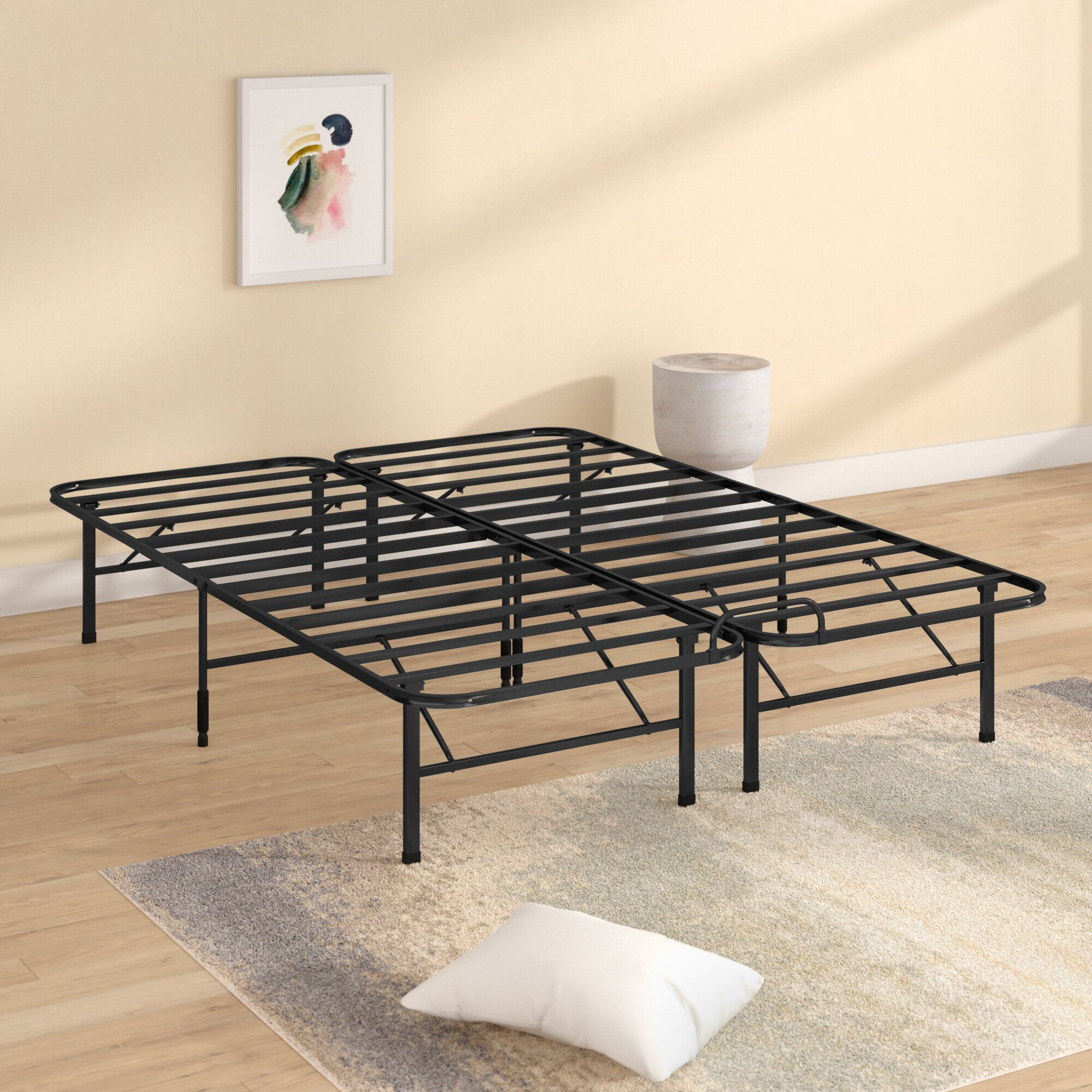 Smart Base Select Stopper Bed Frame Size: Queen