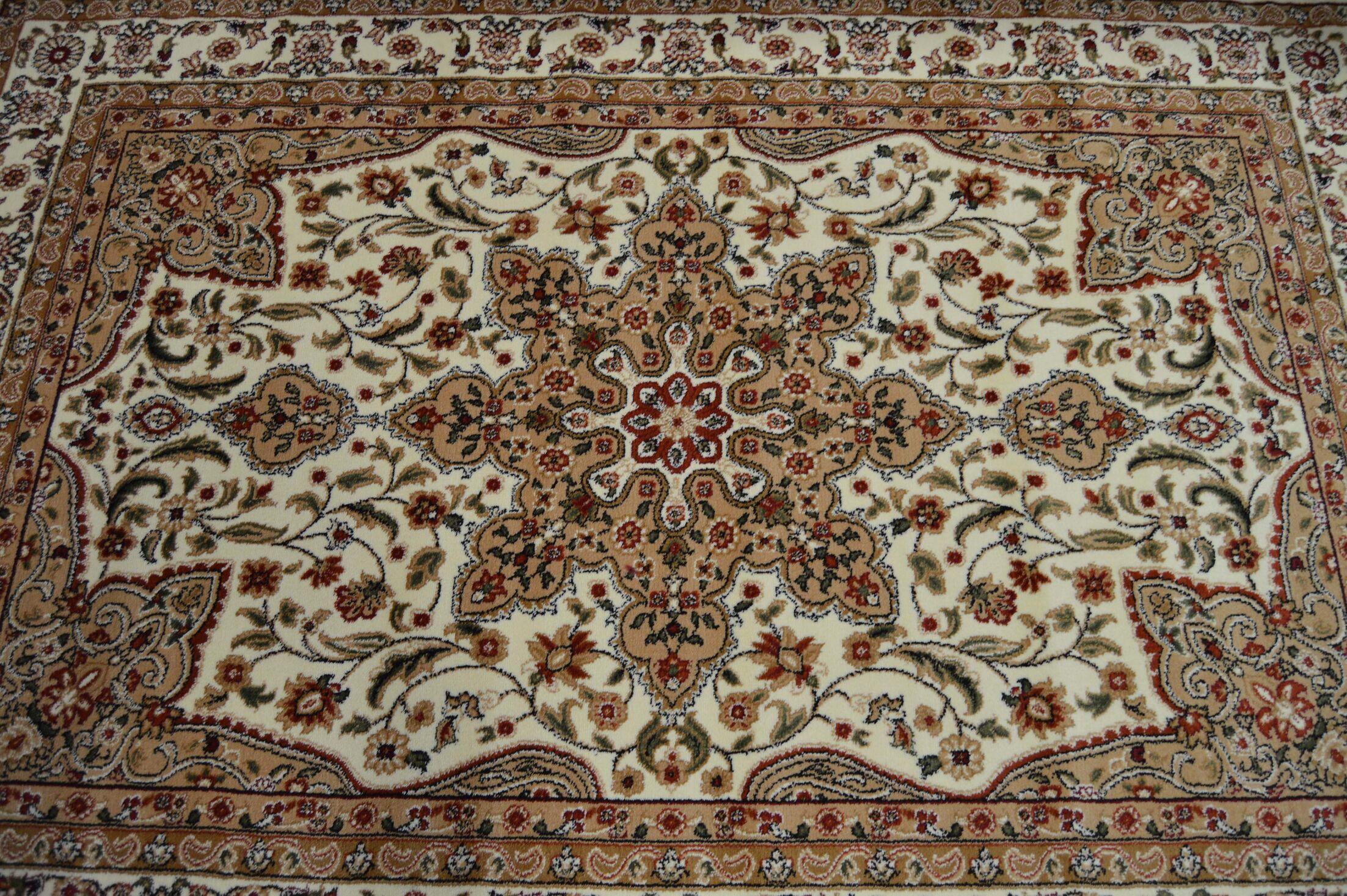 Prunella Floral Persian Oriental Cream Area Rug