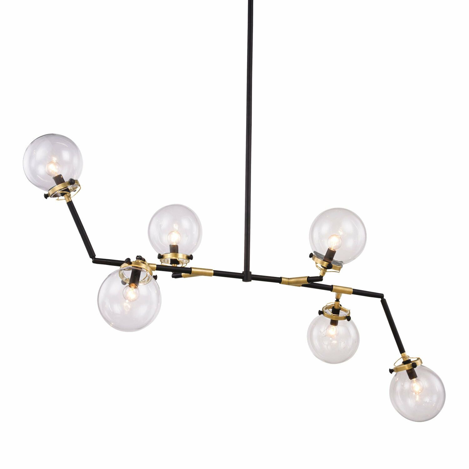 Chairez 6-Light Chandelier Finish: Burnished Brass