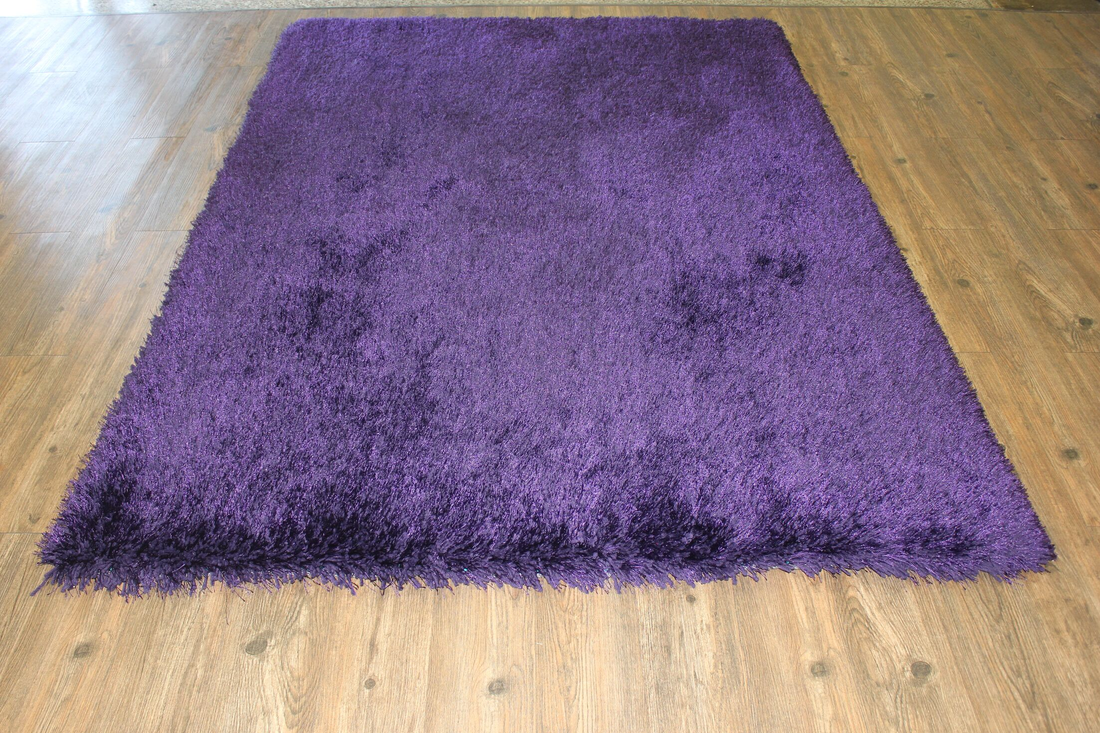 One-of-a-Kind Friley Hand-Tufted Purple Area Rug