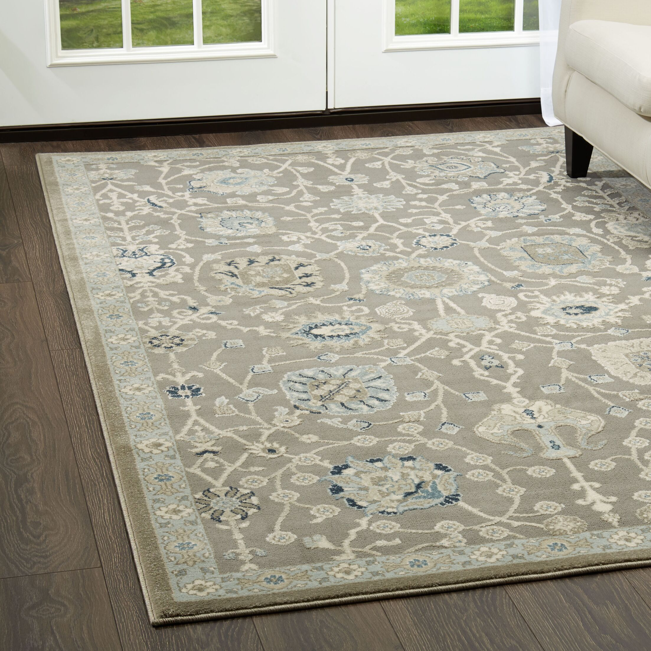 Gray/Blue Area Rug Rug Size: Rectangle 7'10