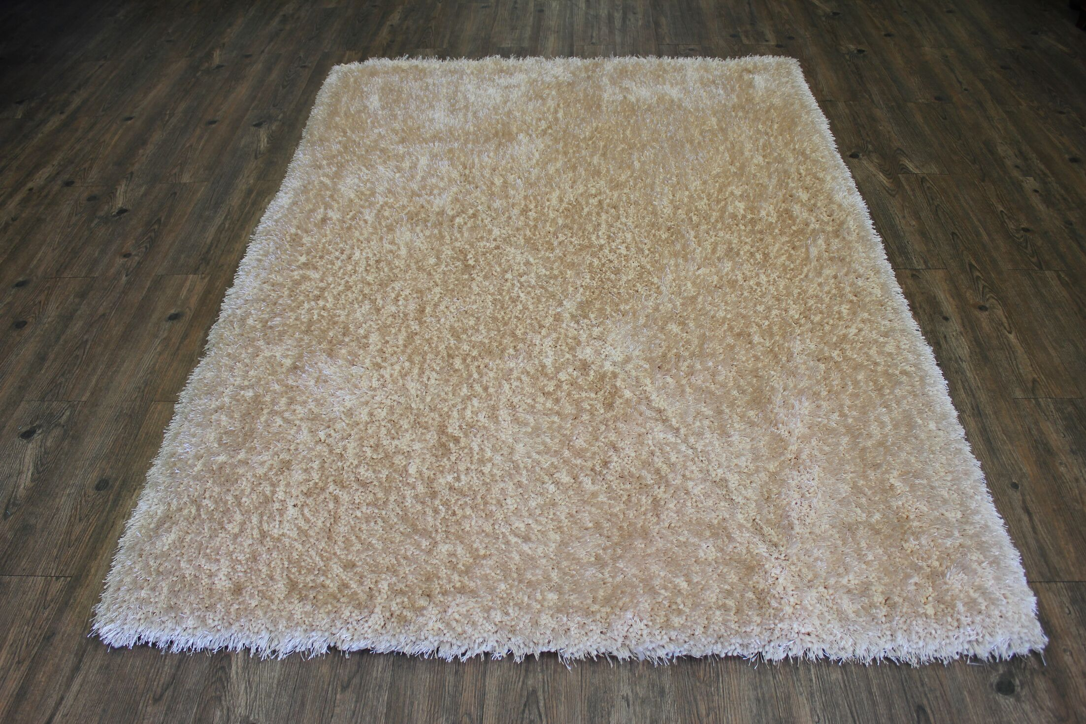 One-of-a-Kind Frisby Hand-Tufted Beige Area Rug