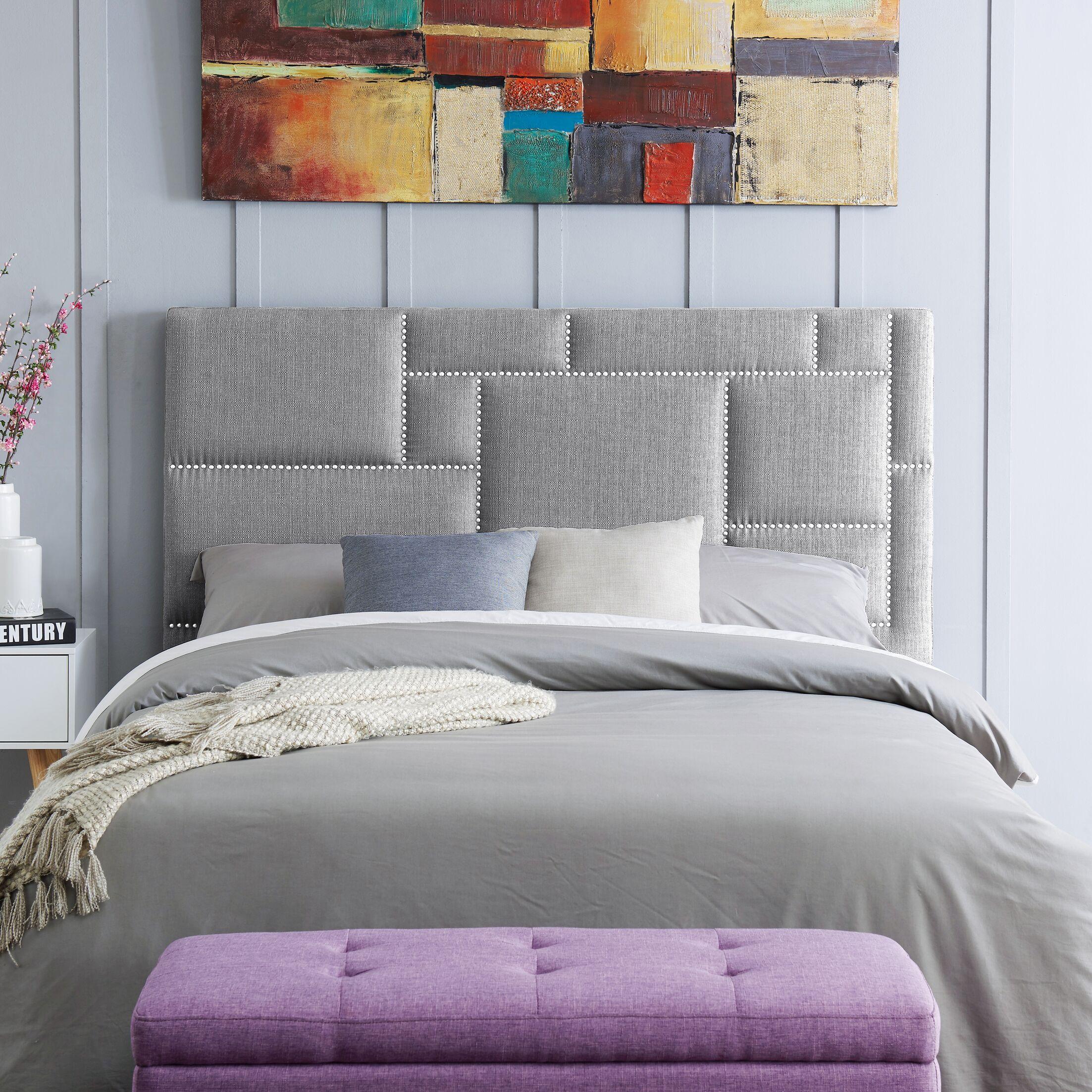 Kerner Upholstered Panel Headboard Upholstery: Dove Gray, Size: King/CalKing