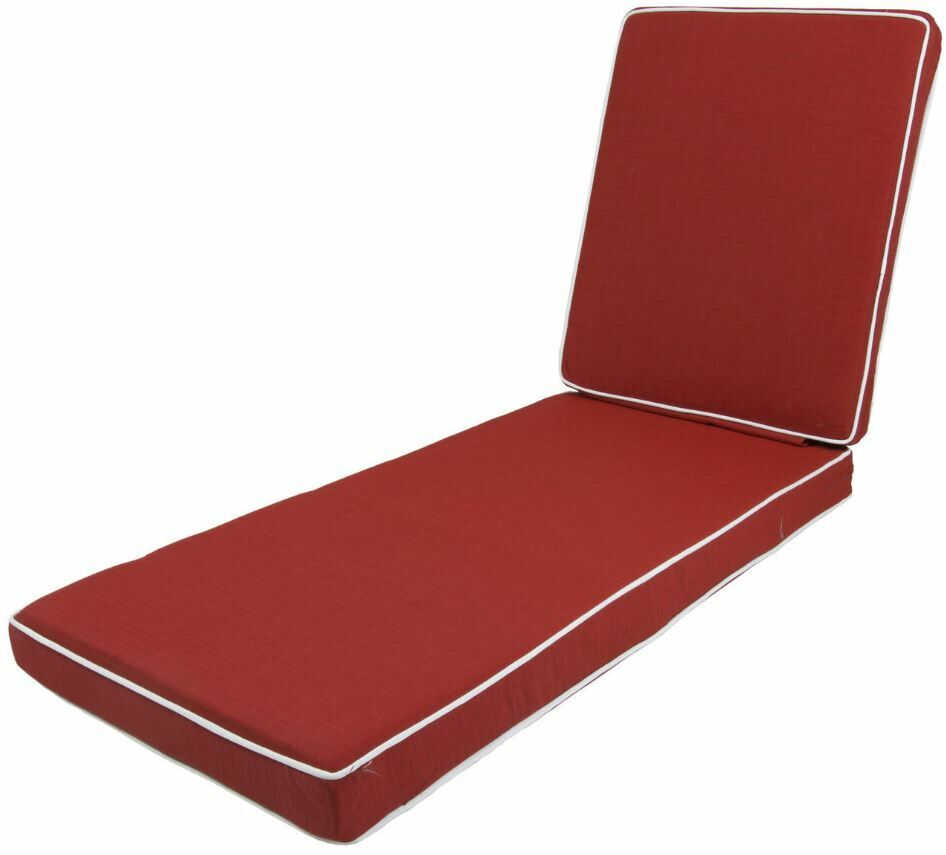 Outdoor Chaise Lounge Cushion Fabric: Red
