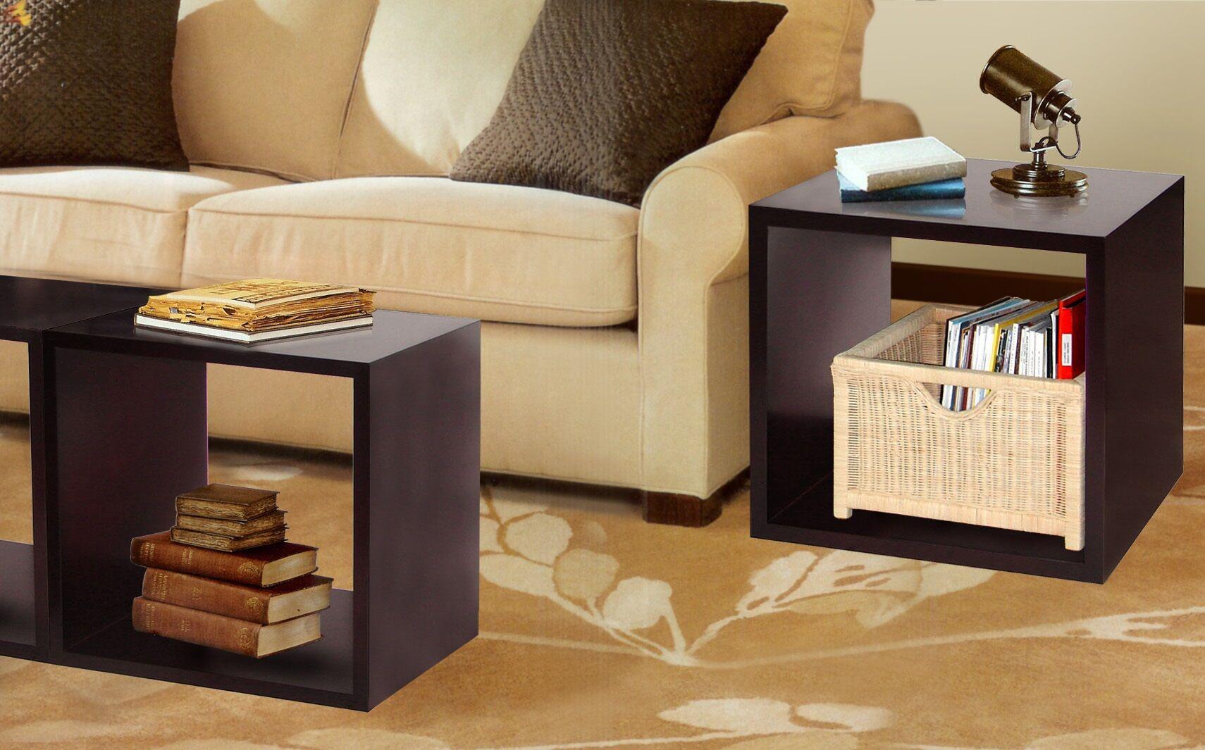 Flanigan End Table with Storage Color: Dark Walnut