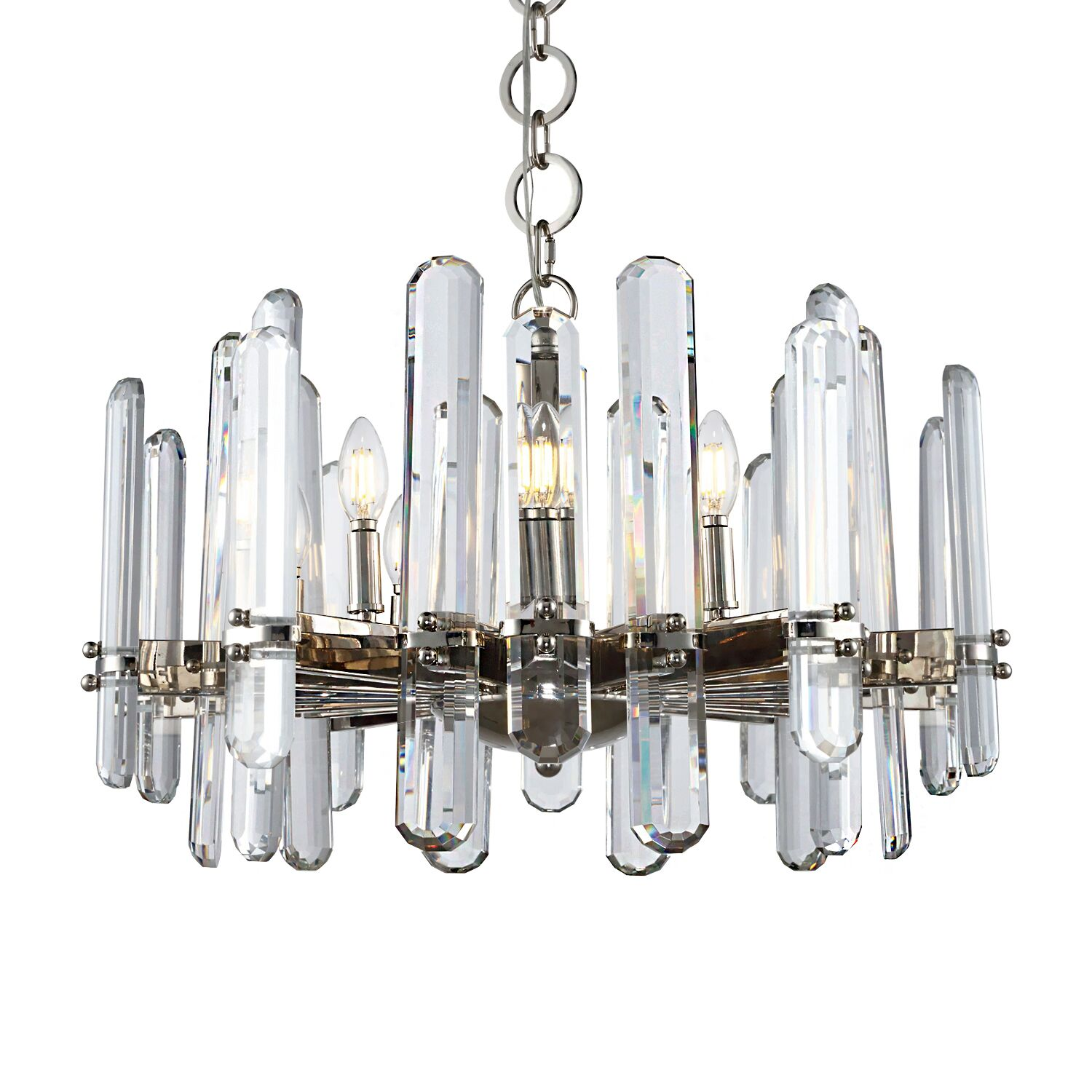 Gent 10-Light Chandelier Finish: Polished Nickel