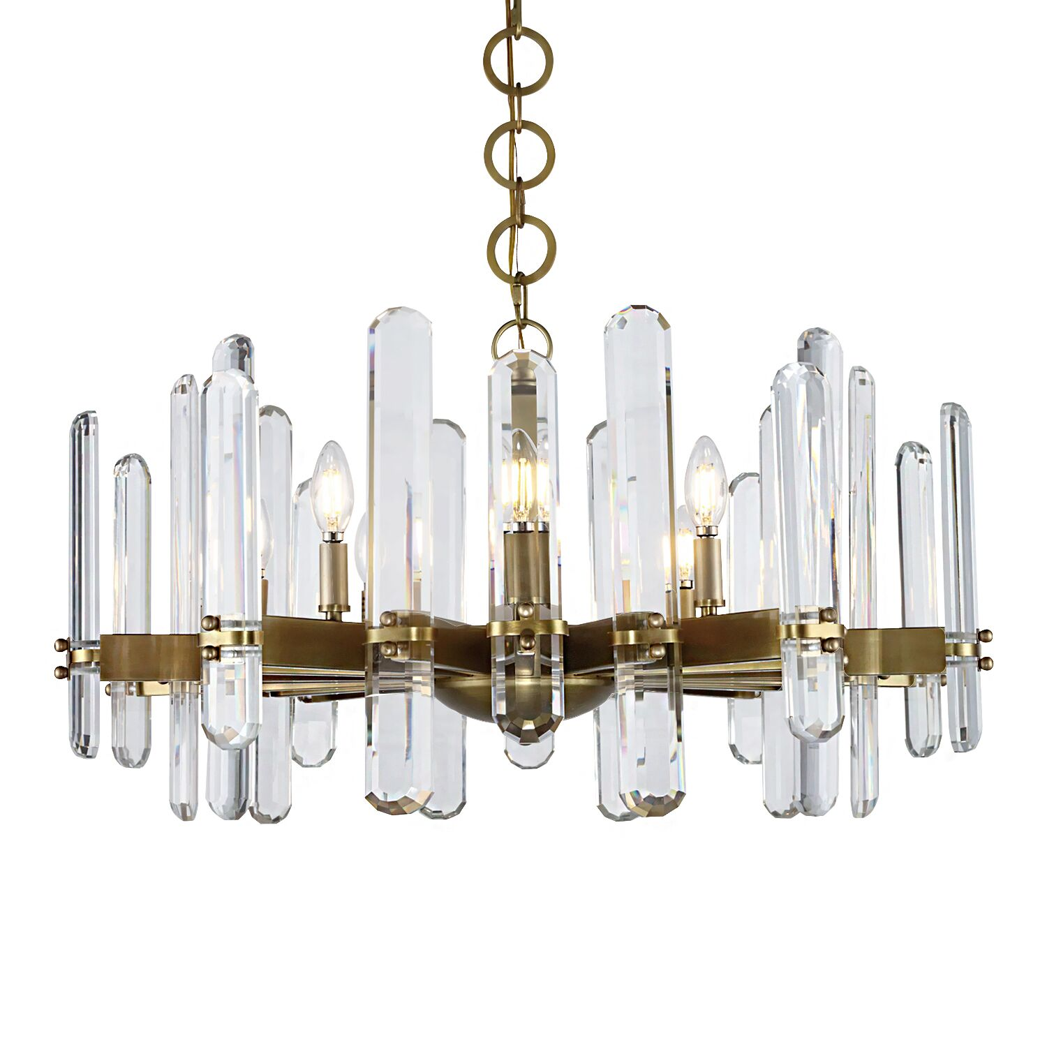 Gent 10-Light Chandelier Finish: Burnished Brass