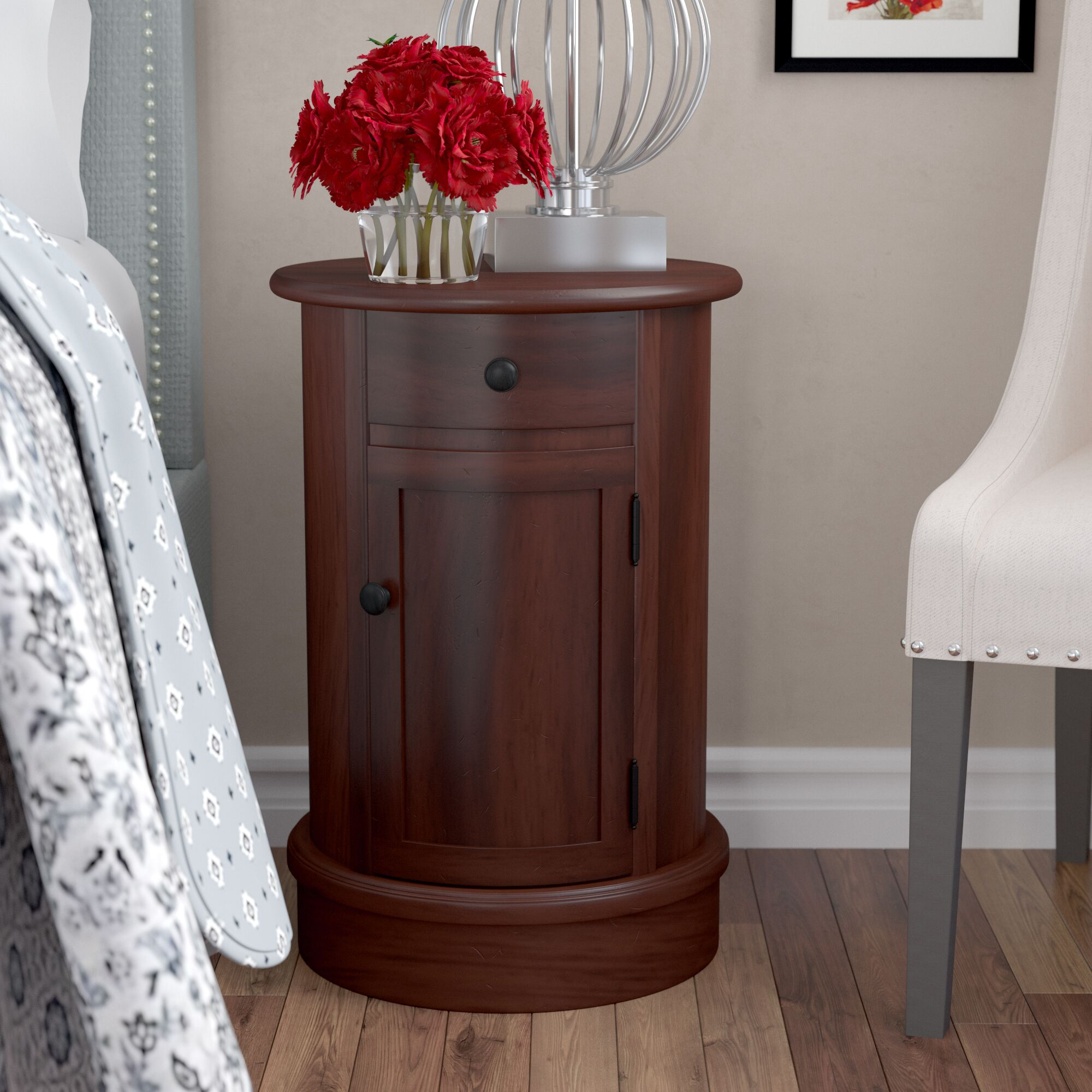 Destin 1 Drawer Nightstand Color: Cherry