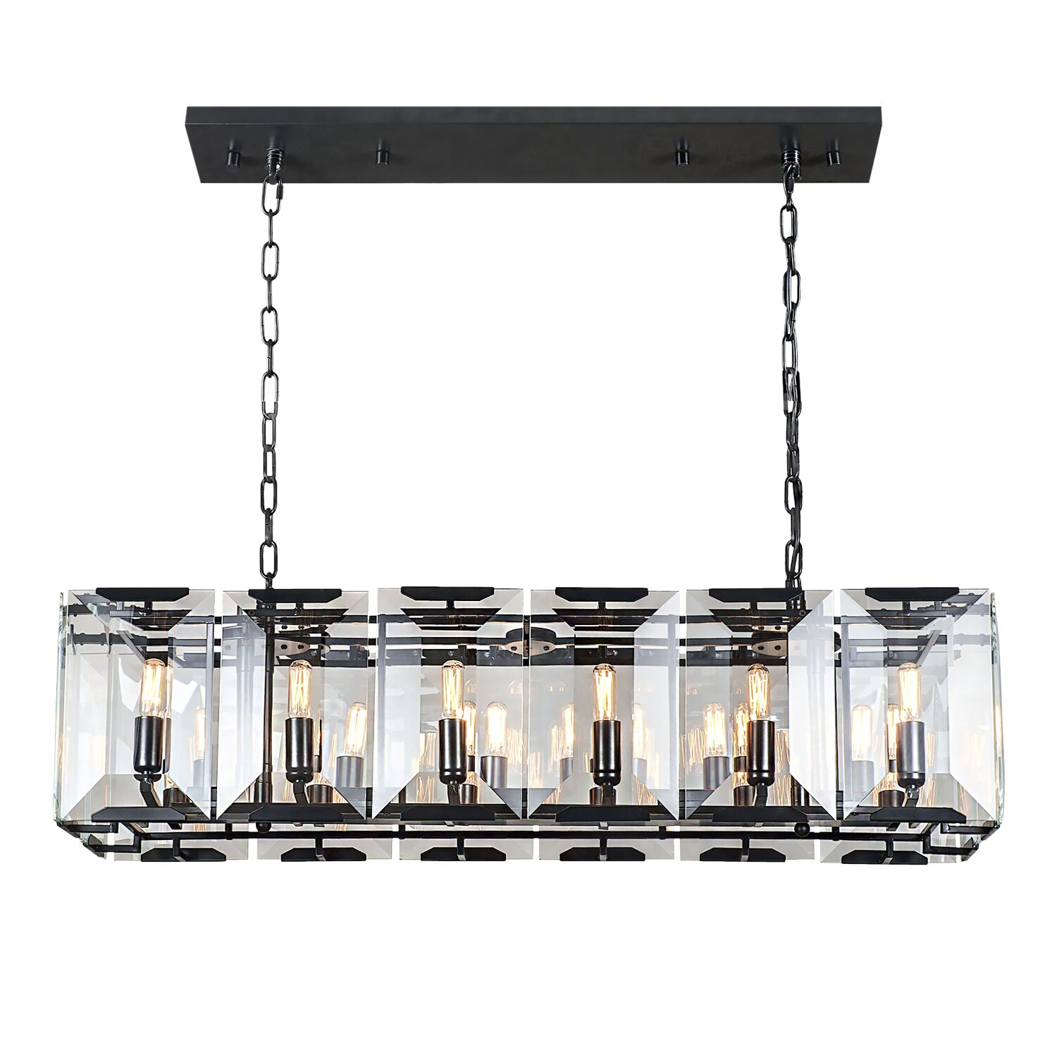 Genovese 12-Light Kitchen Island Pendant Finish: Gray