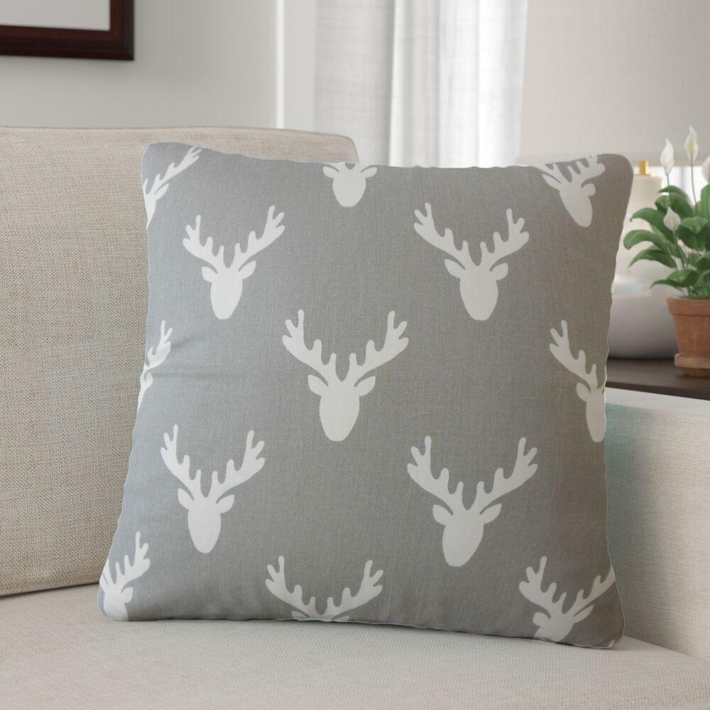Balcones Graphic Cotton Throw Pillow Color: Cool Gray