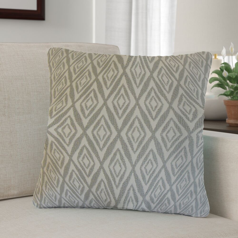 Baremeadow Geometric Cotton Throw Pillow Color: Gray