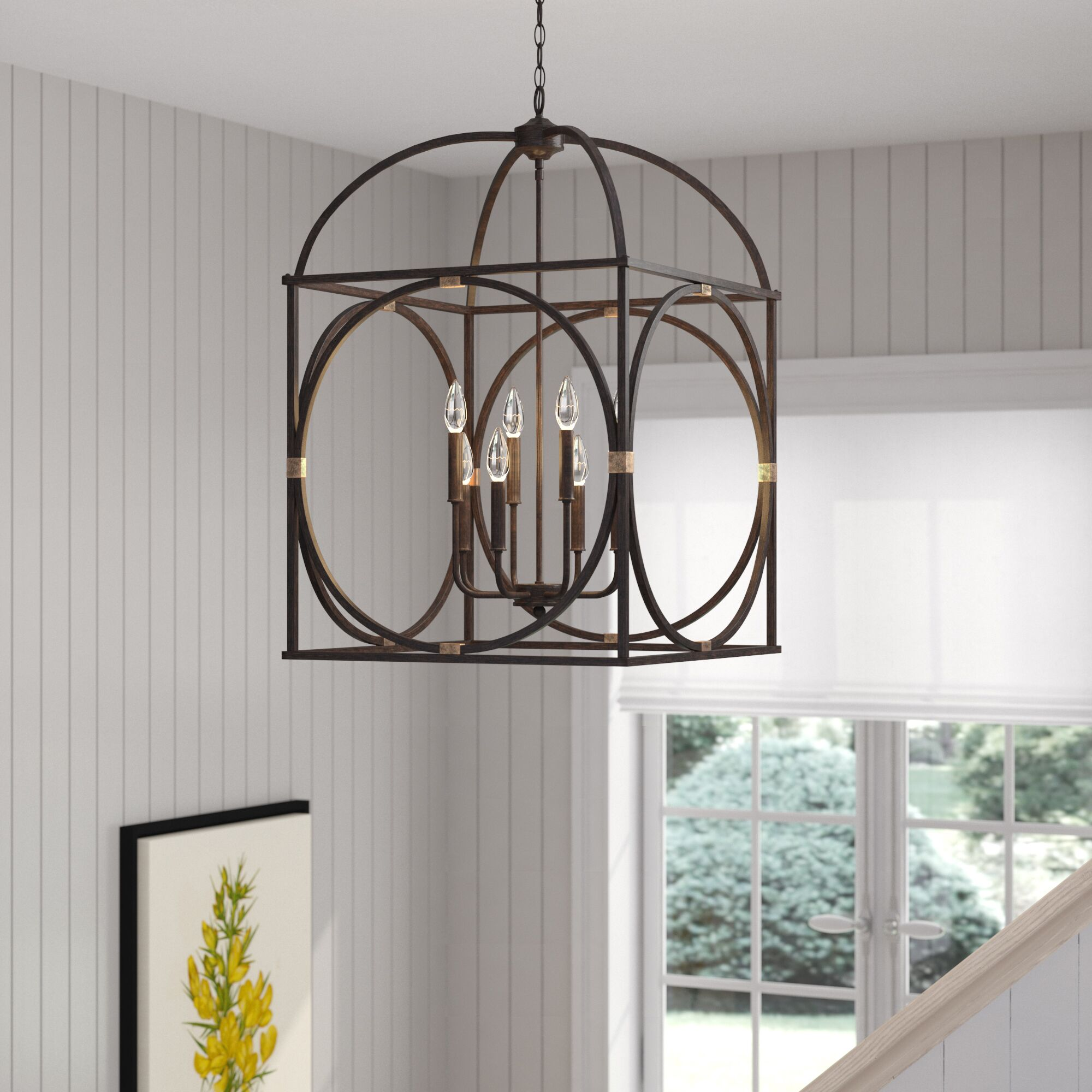 Keene 8-Light Foyer Pendant Finish: Surrey