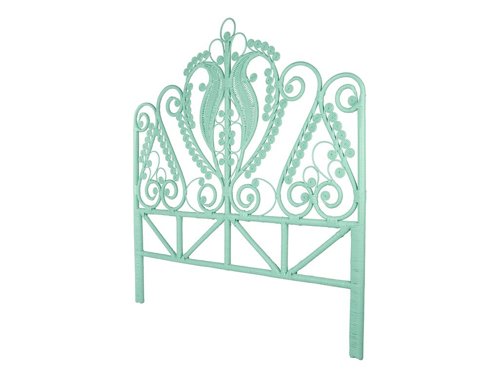 Patton Rattan Open Frame Headboard Size: Queen, Color: Mint