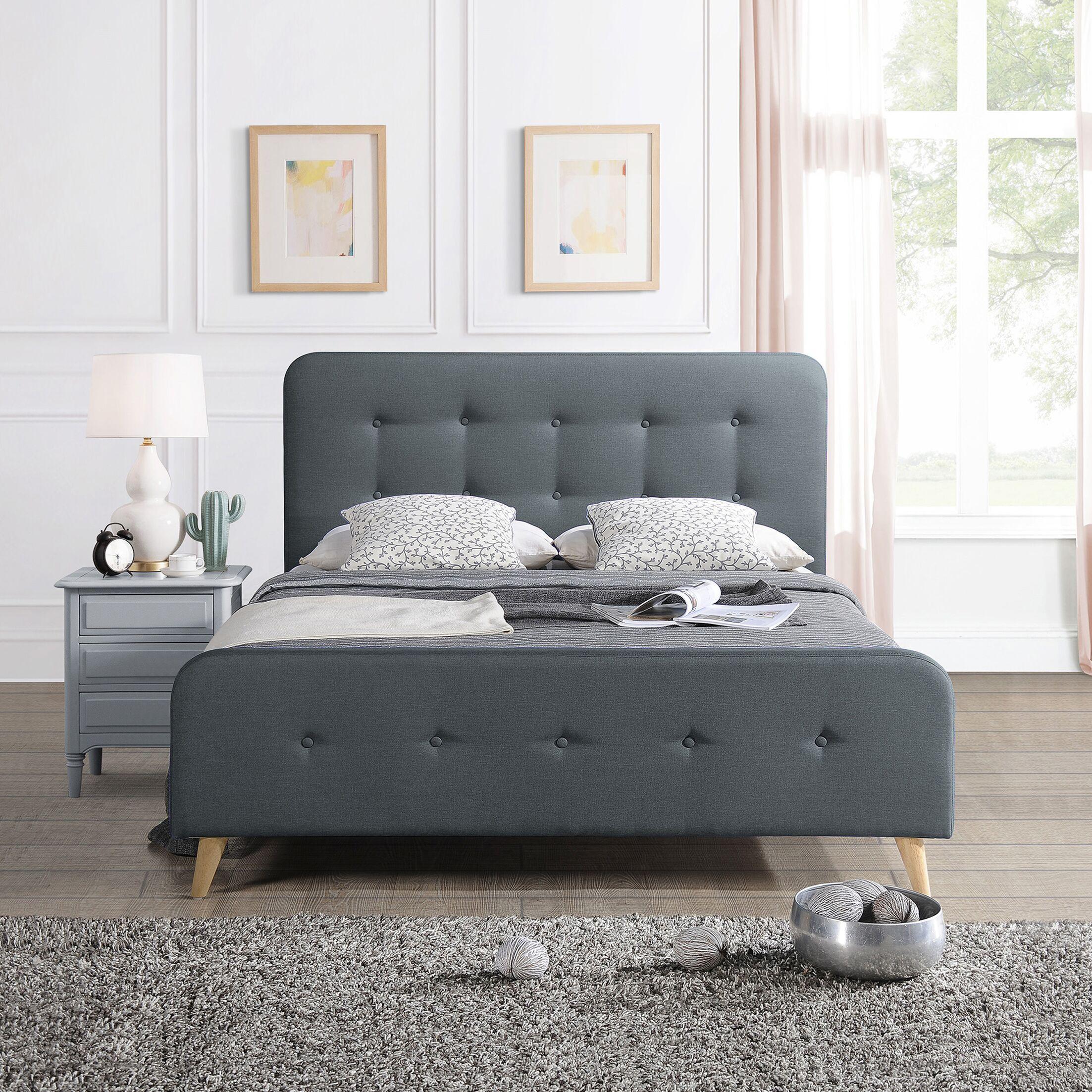 Kolb Queen Upholstered Panel Bed Color: Dark Gray