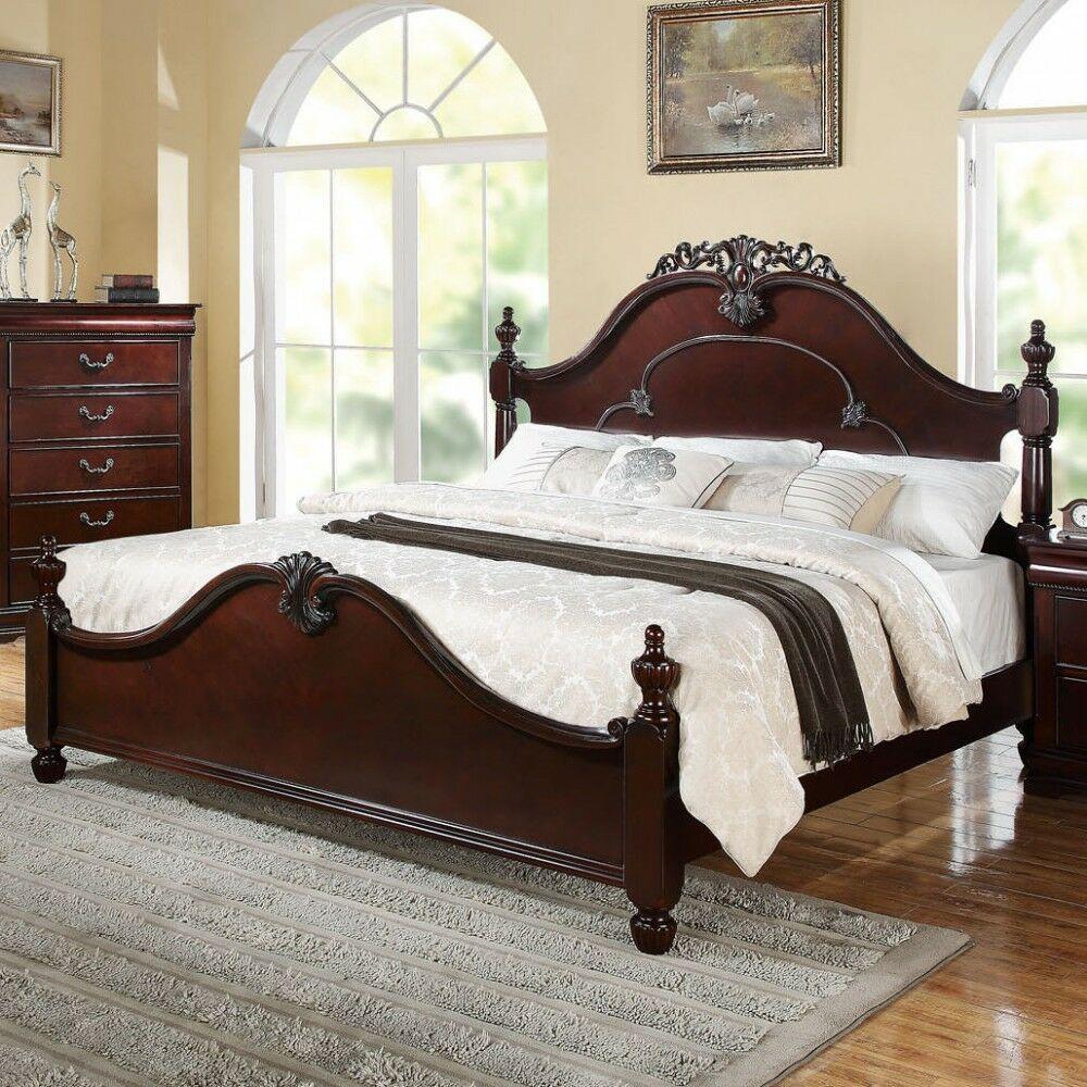 Honeysuckle Elegant Wooden Queen Platform Bed