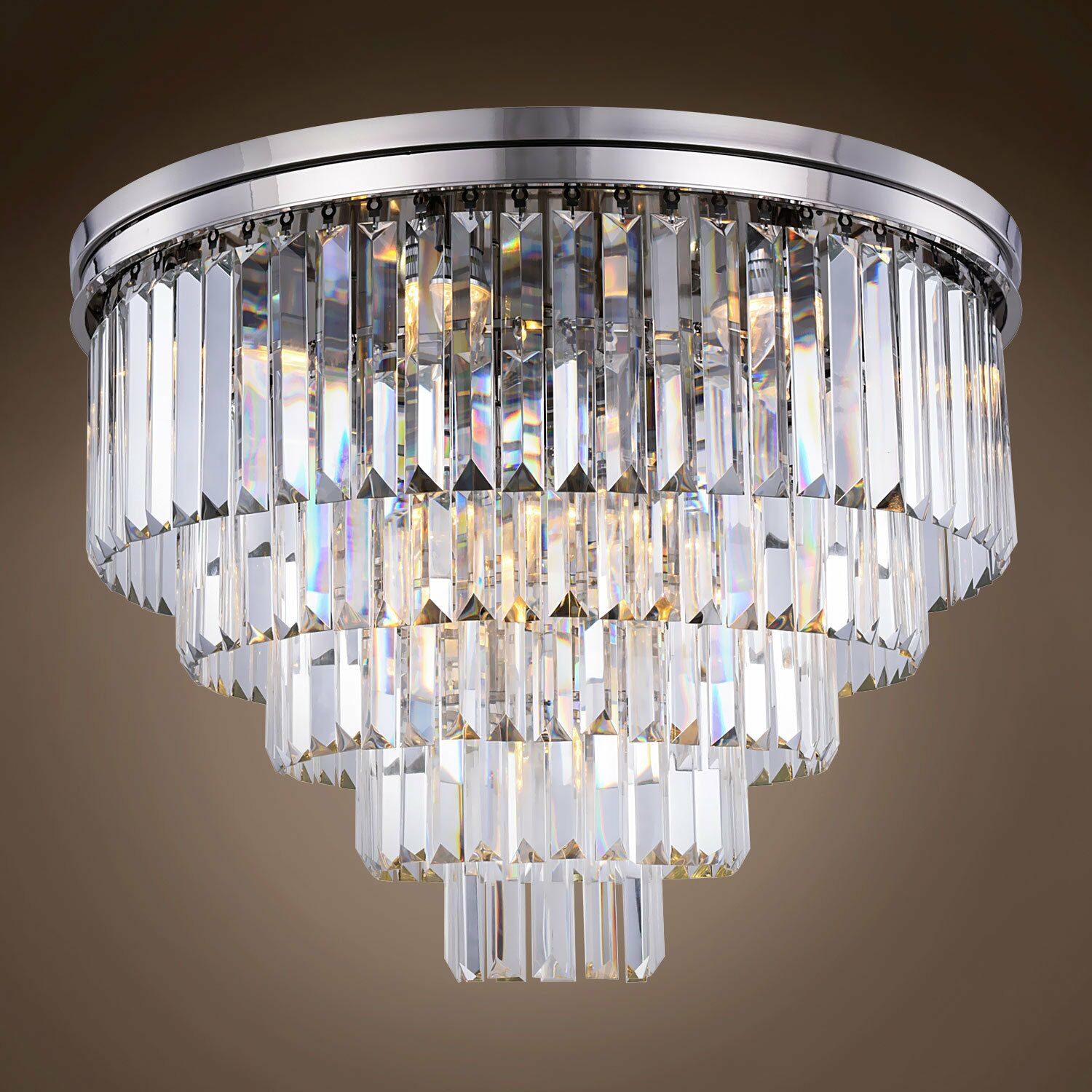 Giancarlo 17-Light Flush Mount Bulb Type: Incandescent, Shade Color: Smoke