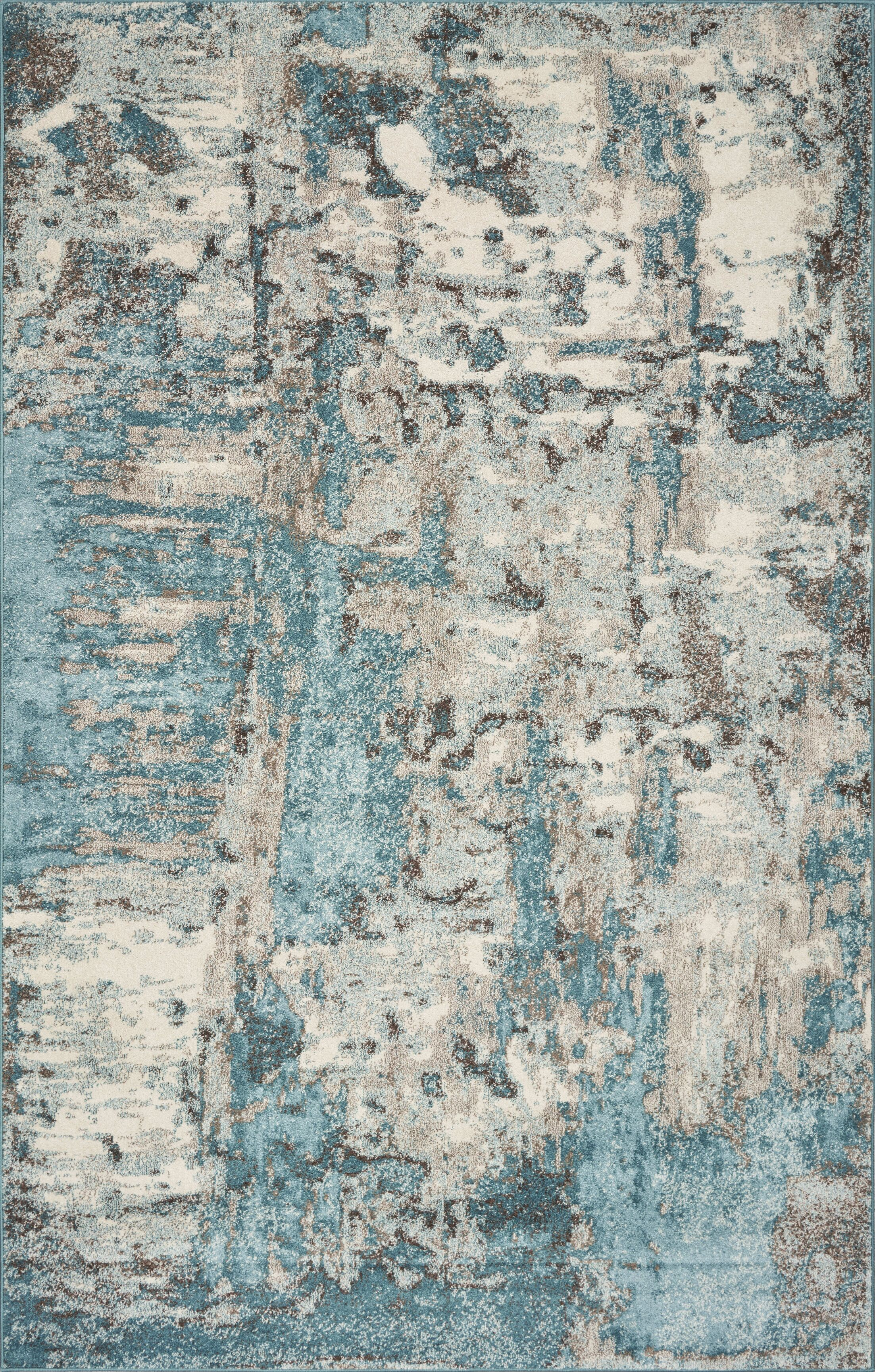 Strouth Teal/Gray Area Rug Rug Size: Rectangle 5' x 7'6