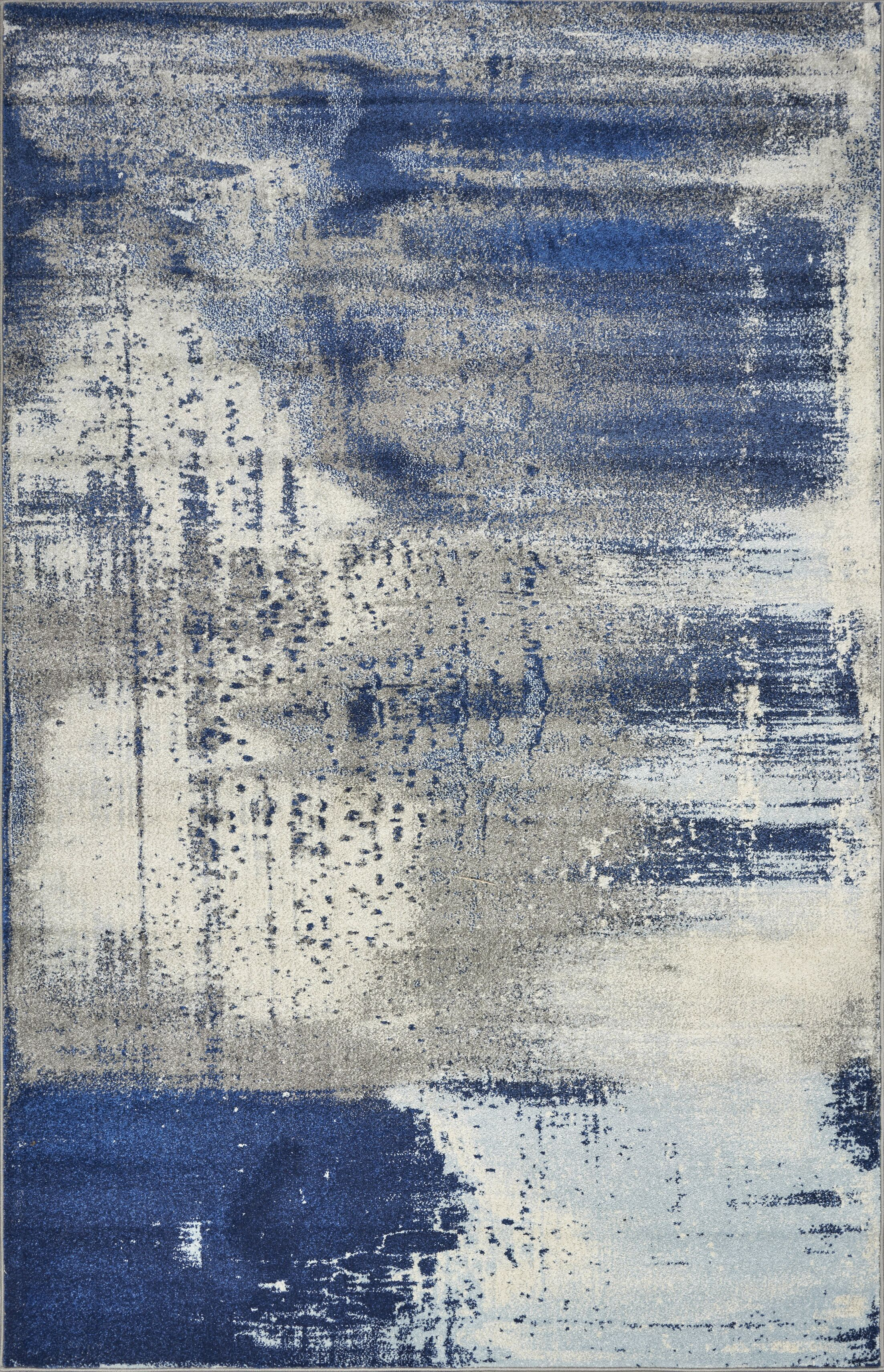 Strouth Ice Flow Gray/Blue Area Rug Rug Size: Rectangle 3'3