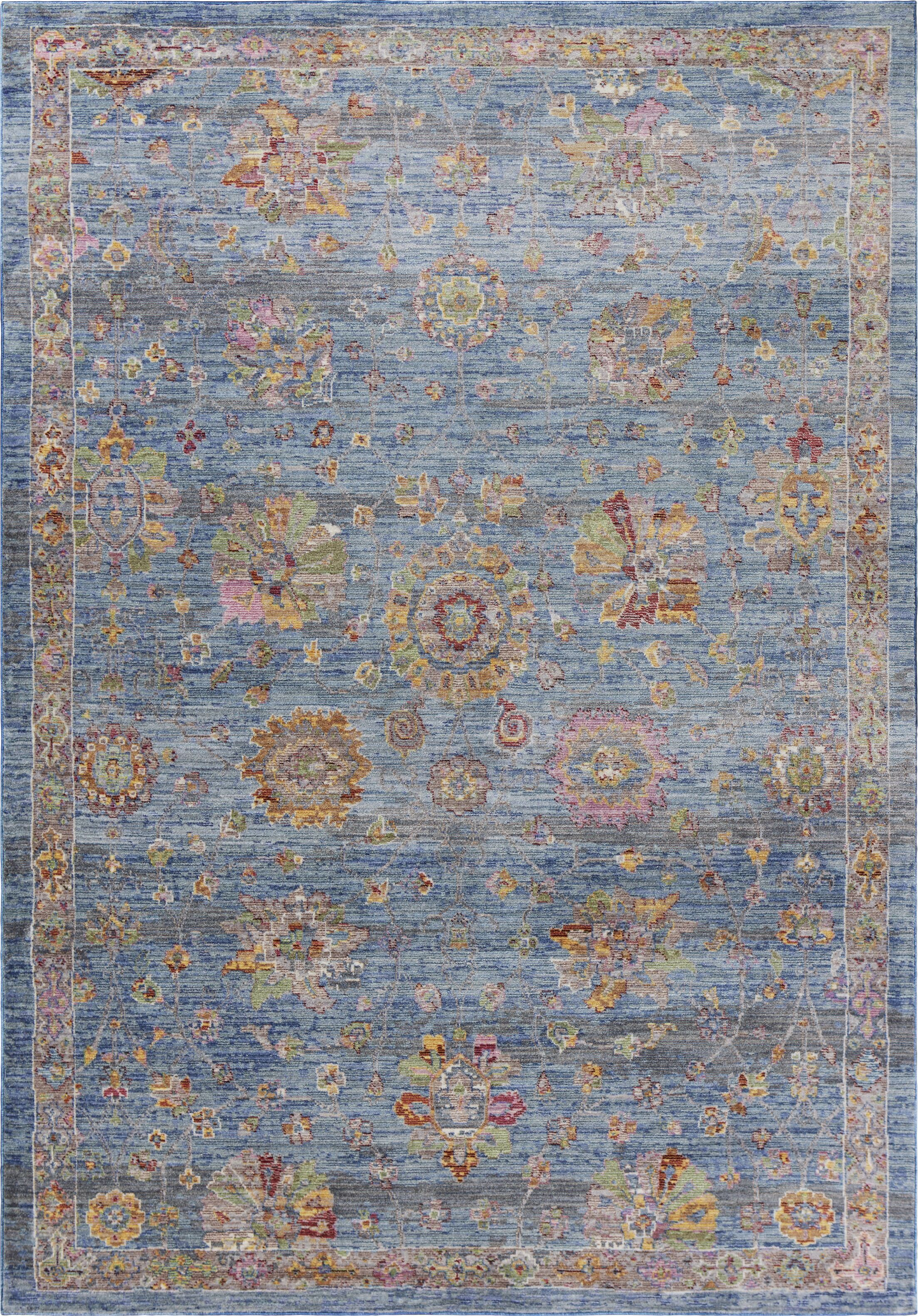 Vermillion Blue Area Rug Rug Size: Rectangle 3'6