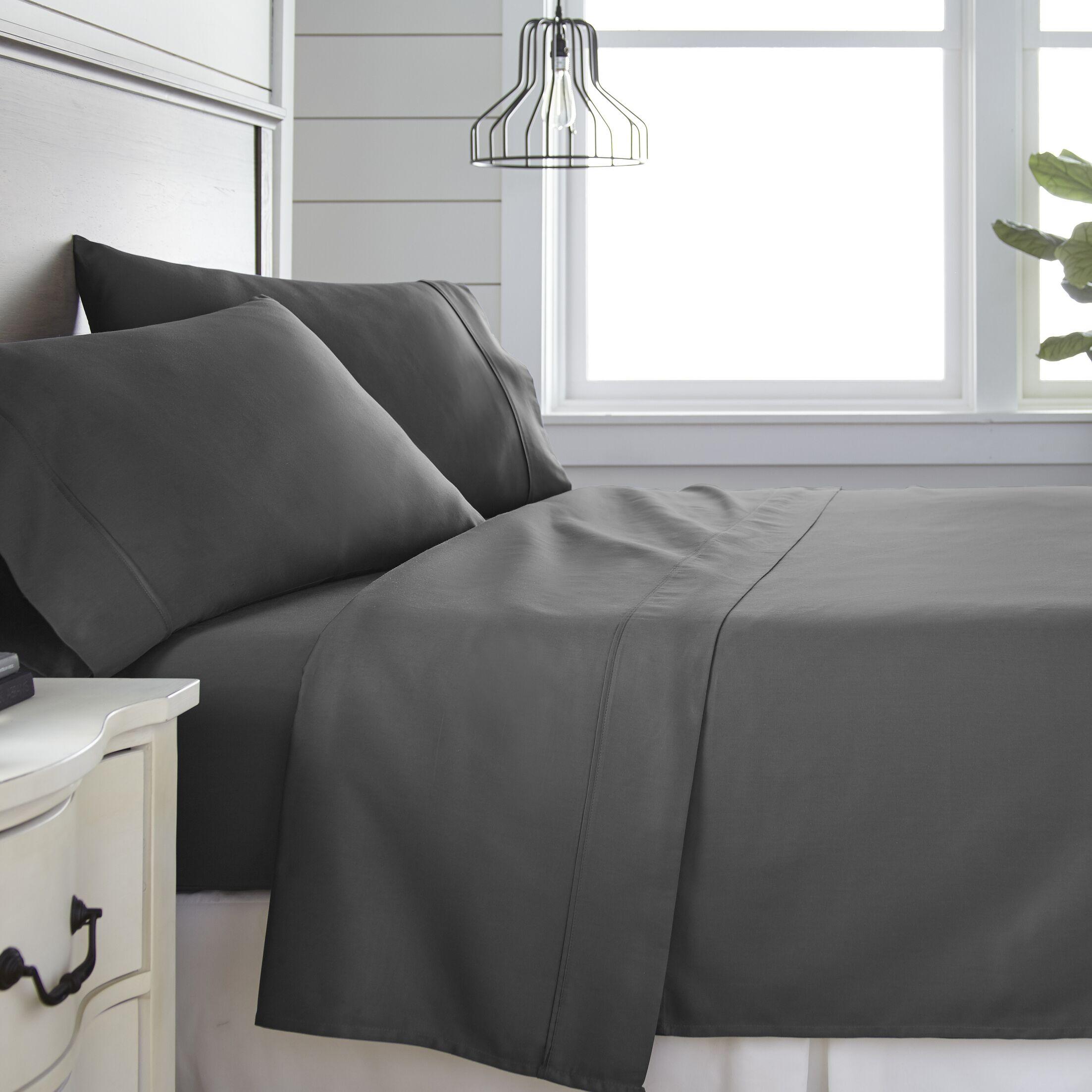 Long Ashton 300 Thread Count 100% Cotton Sheet Set Color: Gray, Size: King
