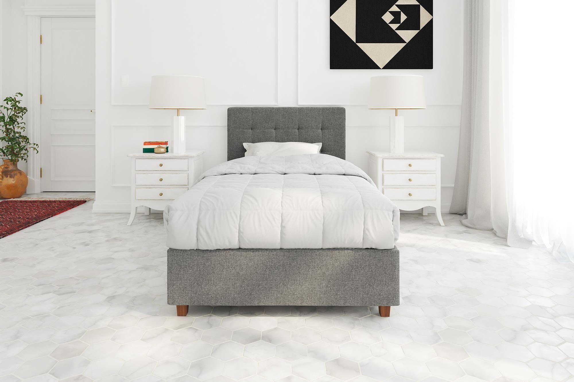 Huckstep Upholstered Platform Bed Size: Twin, Color: Gray