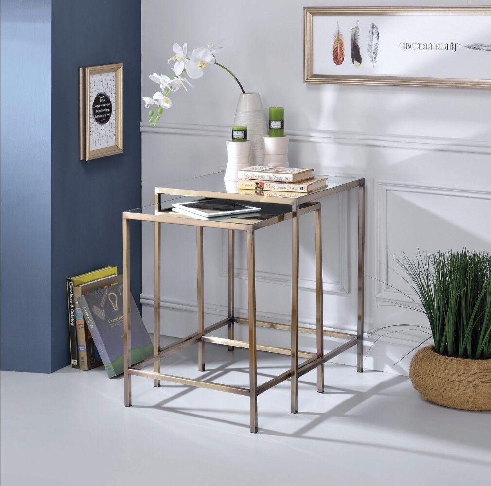 Lucchesi Astonishing 2 Piece Nesting Table Set