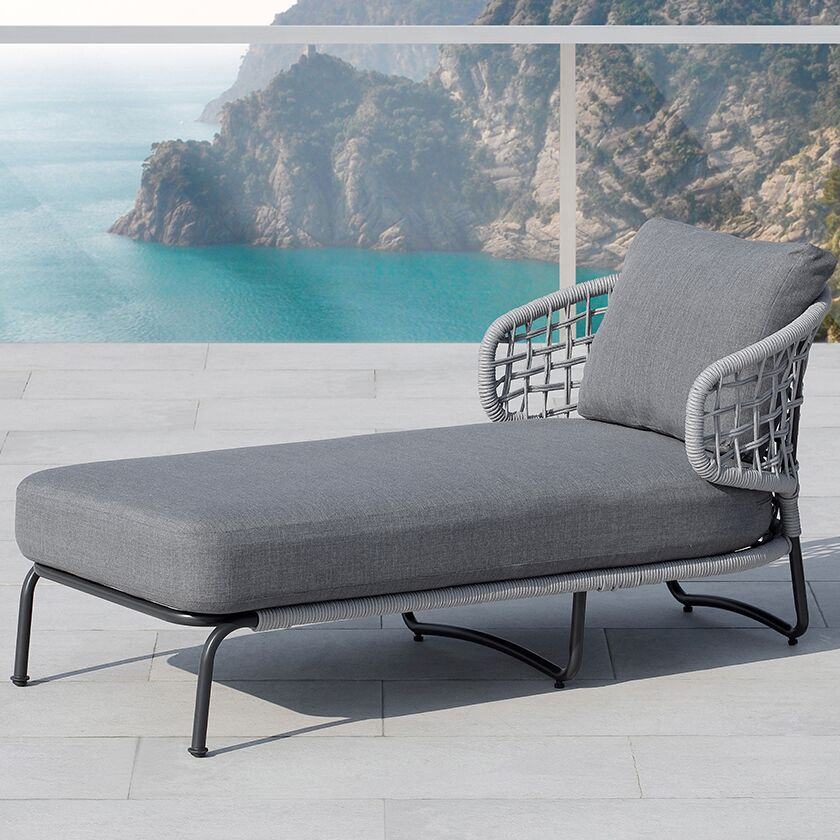 Indiana Chaise Lounge with Cushion