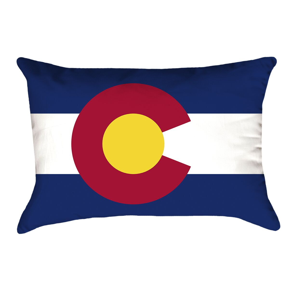 Centers Colorado Flag Lumbar Pillow Material/Product Type: Poly Twill Double Sided Print/Lumbar Pillow