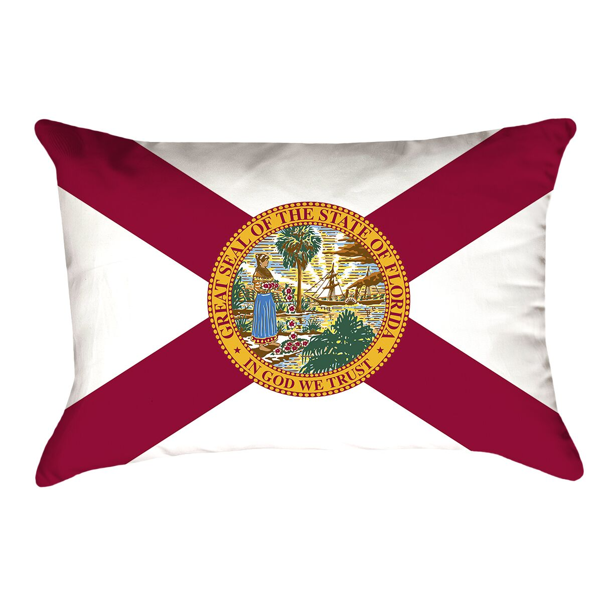 Centers Florida Flag Lumbar Pillow Material/Product Type: Faux Suede Double Sided Print/Pillow Cover
