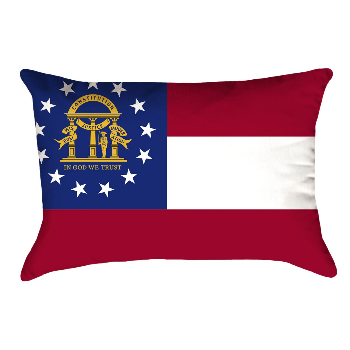 Centers Georgia Flag Lumbar Pillow Material/Product Type: Faux Suede Double Sided Print/Pillow Cover