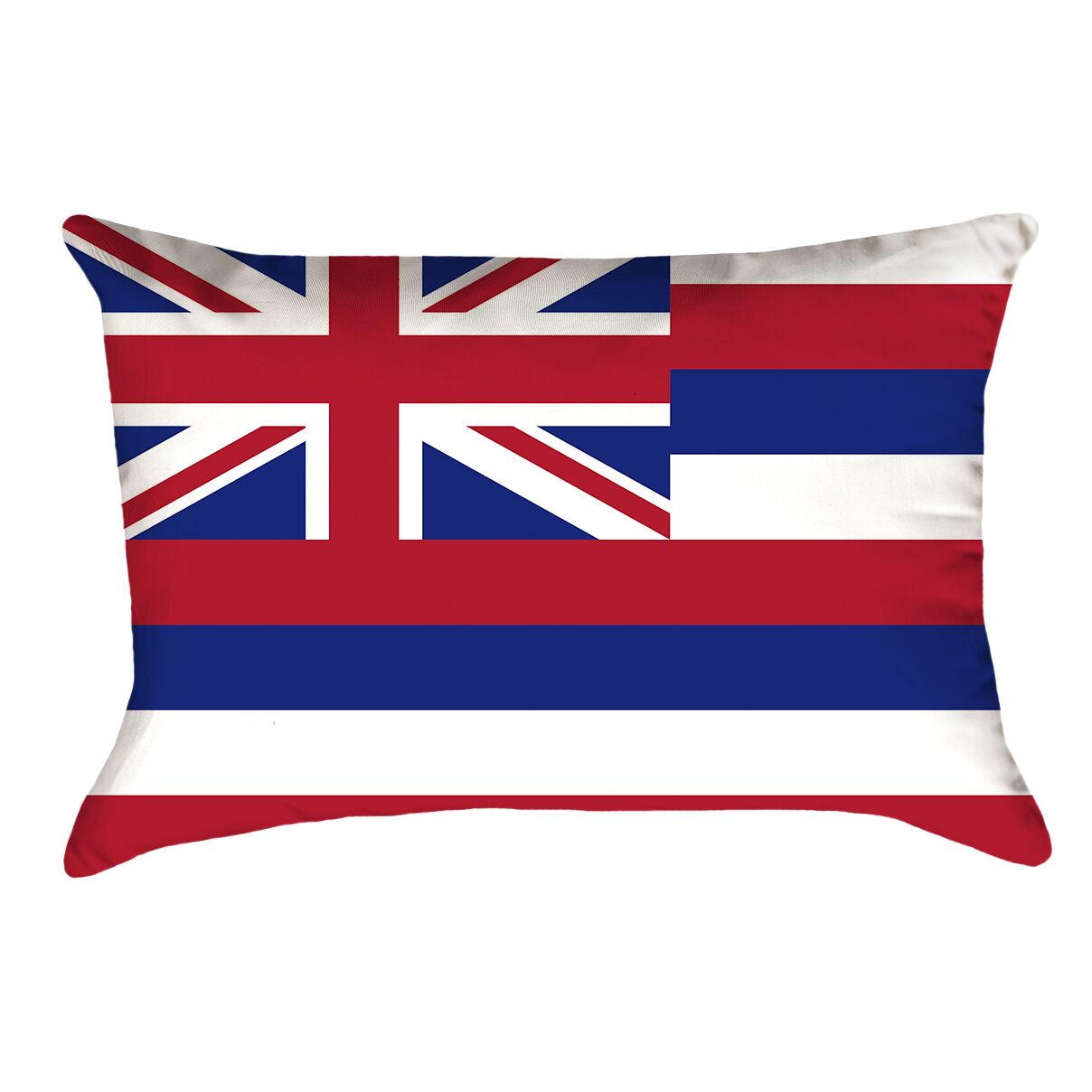 Centers Hawaii Flag Pillow Material/Product Type: Poly Twill Double Sided Print/Lumbar Pillow