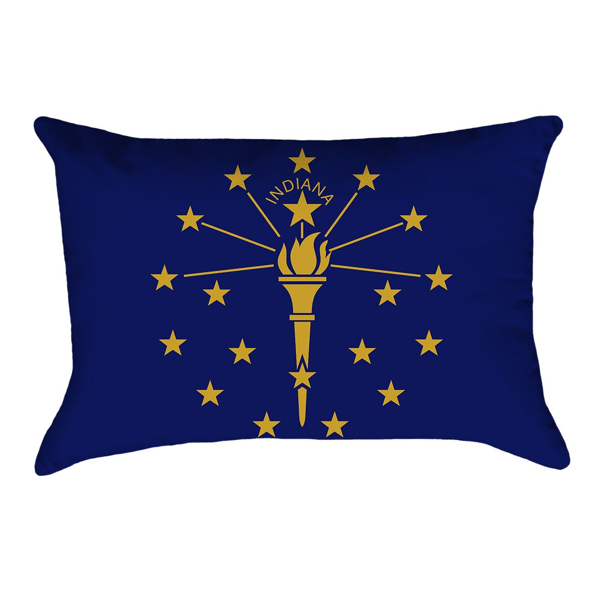 Centers Indiana Flag Pillow Material/Product Type: Poly Twill Double Sided Print/Lumbar Pillow